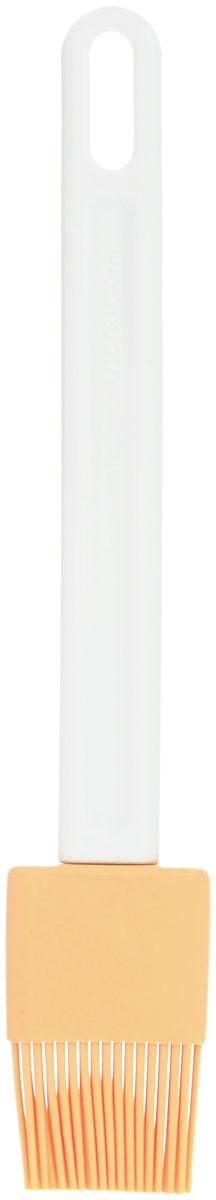 """Кондитерская кисть Tescoma """"Delicia"""" станет вашим незаменимым помощником на кухне. Рабочая  часть кисточки выполнена из силикона, ручка изготовлена из пластика. Силикон абсолютно  безвреден для здоровья, не впитывает запахи, не оставляет пятен, легко моется. Изделие  оснащено петелькой для подвешивания. Кисть Tescoma """"Delicia"""" - практичный и необходимый  подарок любой хозяйке! Длина кисти: 23,5 см. Размер рабочей части: 4 см х 3 см."""