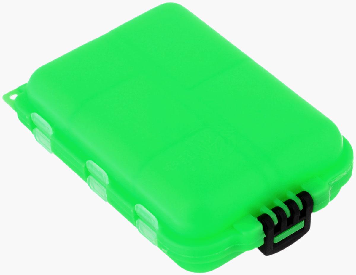 Органайзер для мелочей,, двухсторонний, цвет: зеленый, 9,5 х 6 х 2,5 см ящик для рыболовных принадлежностей onlitop цвет зеленый черный 38 х 24 х 37 см