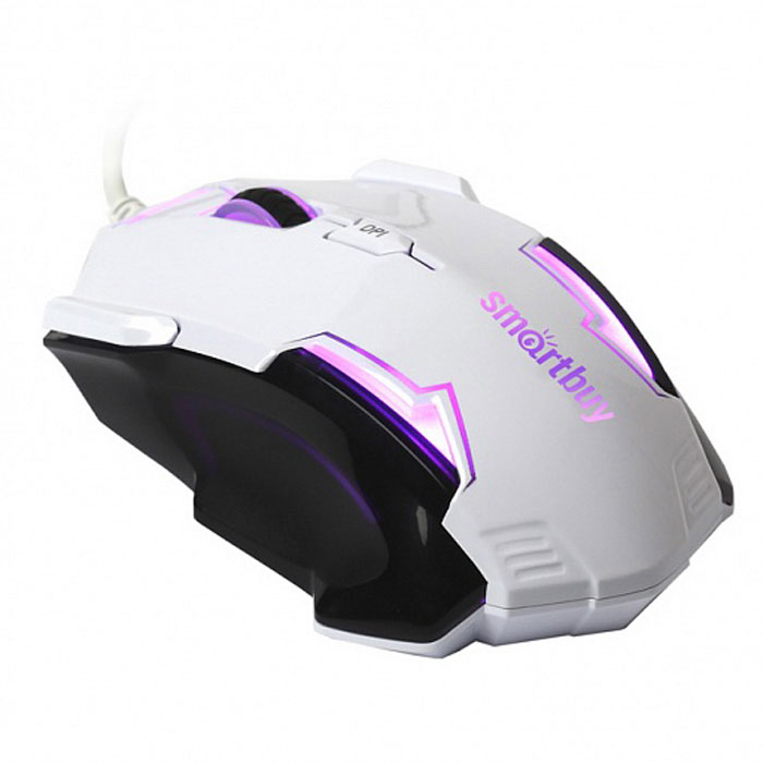 SmartBuy SBM-708G-WK, White Black проводная игровая мышь мышь проводная tt esports by thermaltake azurues mini mo arm005dt black