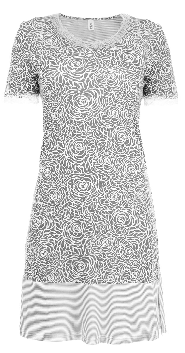 Сорочка женская Ardi, цвет: серый, белый. R1550-44. Размер 40 (46) ardi ночная рубашка