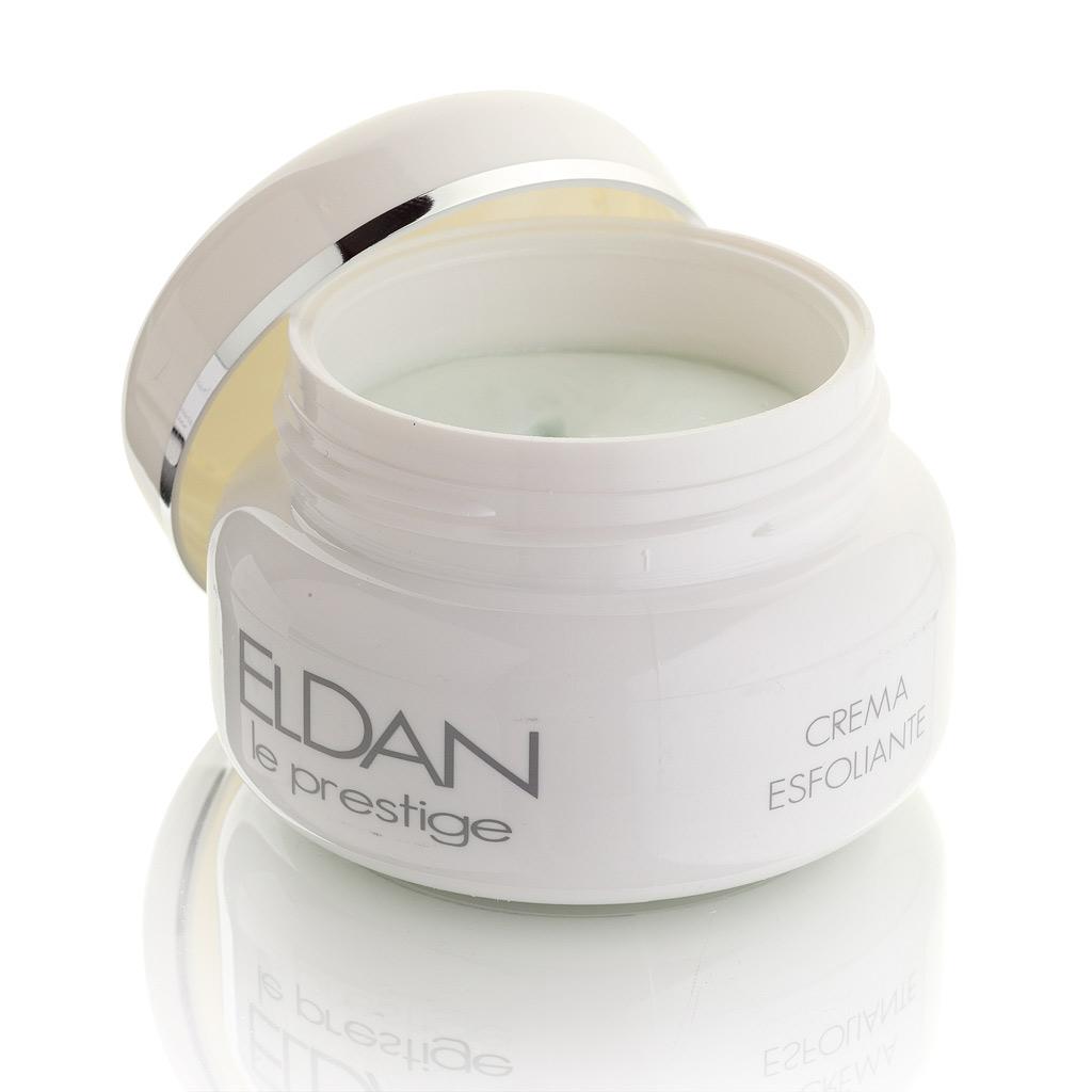 ELDAN cosmetics Керм-скраб для лица Le Prestige, 100 млELD-05крем-эксфолиант мягко отшелушивает с помощью округлых полиэтиленовых гранул, не повреждая и не травмируя кожу. Способствует выравниванию рельефа кожи и улучшает проникновение последующих средств ухода. Усиливает кровообращение, снимает шелушение и покраснение, обладает хорошим заживляющим свойством.