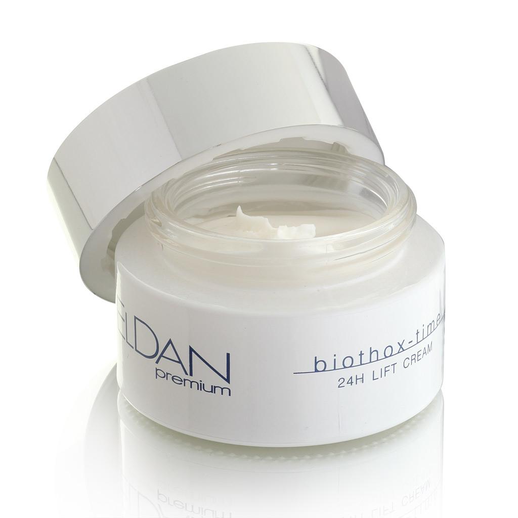 ELDAN cosmetics Лифтинг-крем для лица Premium biothox time, 50 млELD-49Крем предназначен для сухой, нормальной, атоничной кожи с выраженными мимическими морщинами. Аргирелин, входящий в состав крема, расслабляет мимическую мускулатуру лица, уменьшает глубину морщин, корректирует овал лица, обеспечивает мощный лифтинг-эффект.