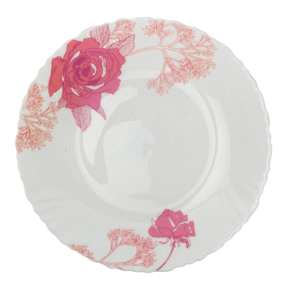 Тарелка обеденная Chinbull Ля Руж, диаметр 24 смOLHP-95/309-2Обеденная тарелка Chinbull Ля Руж, изготовленная из высококачественной стеклокерамики, украшена ярким цветочным рисунком. Изящный дизайн придется по вкусу и ценителям классики, и тем, кто предпочитает утонченность. Тарелка Chinbull Ля Руж идеально подойдет для сервировки стола и станет отличным подарком к любому празднику.Диаметр (по верхнему краю): 24 см.