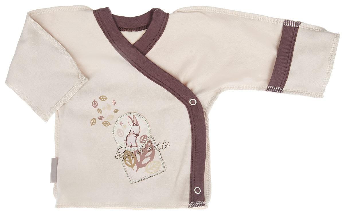 Распашонка-кимоно Linea Di Sette Зайка, цвет: бежевый, коричневый. 01-0401. Размер 56, 1-3 месяца01-0401Распашонка-кимоно Linea Di Sette Зайка послужит идеальным дополнением к гардеробу вашего ребенка. Изделие изготовлено из высококачественного органического полотна в соответствии с принятыми стандартами. Органический хлопок - это безвредная альтернатива традиционному хлопку, ткани из него не вредят нежной коже малыша, а также их производство безопасно для окружающей среды. Органический хлопок очень мягкий, отлично пропускает воздух, обеспечивая максимальный комфорт. Эластичные швы, выполненные наружу, приятны телу младенца и не препятствуют его движениям. Распашонка с длинными рукавами и V-образным вырезом горловины застегивается с помощью кнопок по принципу кимоно, что помогает с легкостью переодеть кроху. Рукава дополнены рукавичками, благодаря которым ребенок не поцарапает себя. Ручки могут быть как открытыми, так и закрытыми. Модель оформлена принтом с изображением зайки, а также украшена вышивкой. Распашонка полностью соответствует особенностям жизни ребенка в ранний период, не стесняя и не ограничивая его в движениях.