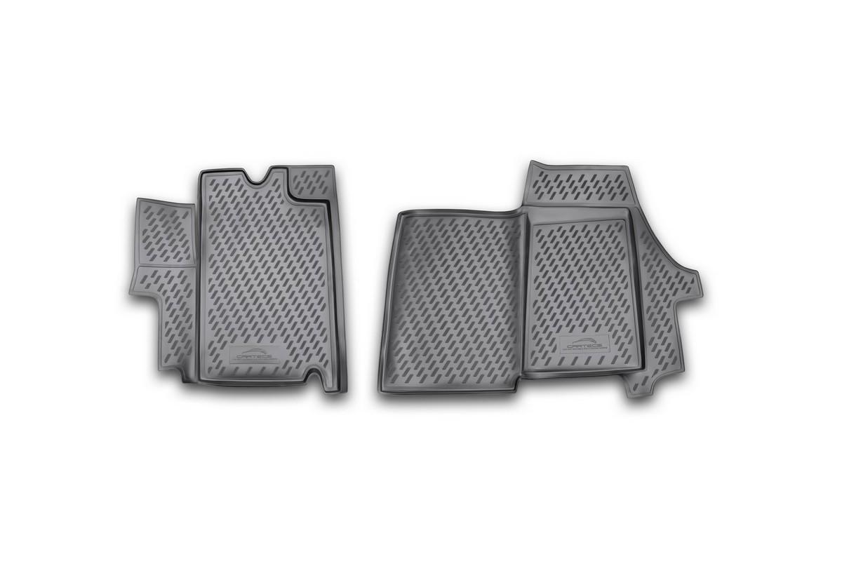 Набор автомобильных ковриков Novline-Autofamily для Citroen Jumper 2009-, в салон, 2 штCARCRN00029Набор автомобильных ковриков Novline-Autofamily, изготовленный из полиуретана, состоит из 2 ковриков, которые учитывают все особенности каждой модели автомобиля и полностью повторяют контуры пола. Полиуретановые автомобильные коврики для салона произведены из высококачественного материала, который держит форму, прочный и не пачкает обувь. Коврики в салон не только улучшат внешний вид салона вашего автомобиля, но и надежно уберегут его от пыли, грязи и сырости, а значит, защитят кузов от коррозии. Полиуретановые коврики для автомобиля гладкие, приятные и не пропускают влагу. Ковры для автомобилей надежно крепятся на полу и не скользят, что очень важно во время движения. Чистятся коврики очень просто: как при помощи автомобильного пылесоса, так и различными моющими средствами. Набор подходит для Citroen Jumper с 2009 года выпуска.