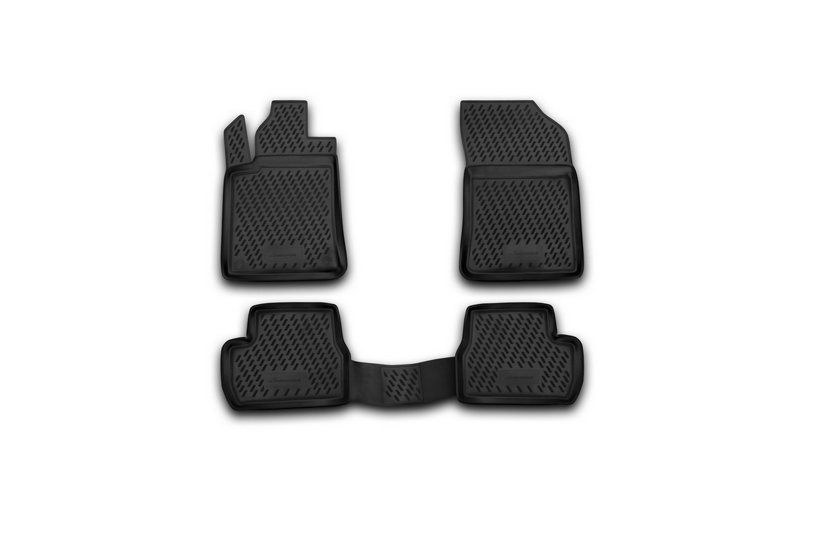 Набор автомобильных ковриков Novline-Autofamily для Citroen C3 01/2010-, в салон, 4 шт