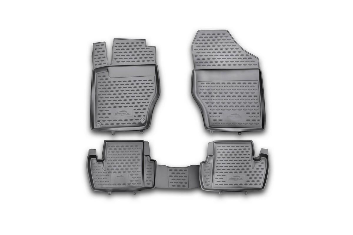 Набор автомобильных ковриков Novline-Autofamily для Citroen C4 2011-, в салон, 4 шт коврики в салон автомобиля novline autofamily для citroen nemo 2008 2 шт