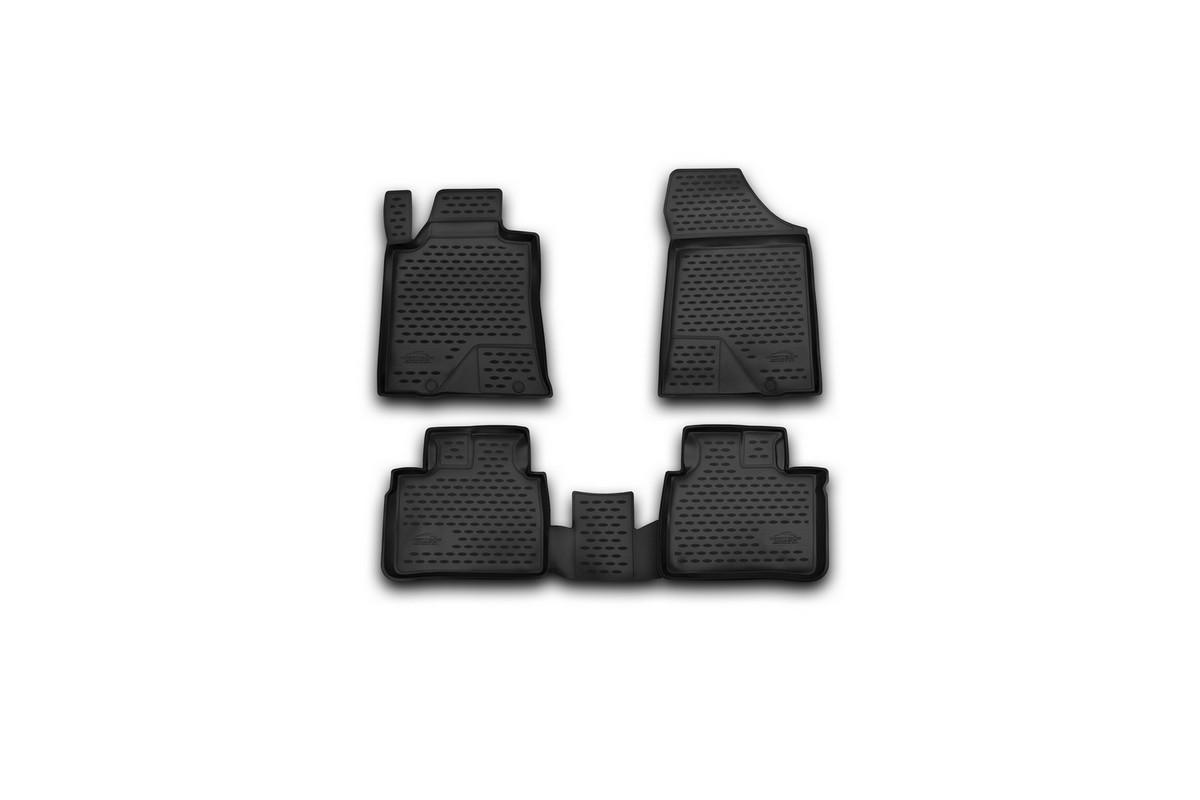 Набор автомобильных ковриков Novline-Autofamily для Nissan Teana III 2014-, в салон, 4 штCARNIS00042Набор автомобильных ковриков Novline-Autofamily, изготовленный из полиуретана, состоит из 4 ковриков, которые учитывают все особенности каждой модели автомобиля и полностью повторяют контуры пола. Полиуретановые автомобильные коврики для салона произведены из высококачественного материала, который держит форму, прочный и не пачкает обувь. Коврики в салон не только улучшат внешний вид салона вашего автомобиля, но и надежно уберегут его от пыли, грязи и сырости, а значит, защитят кузов от коррозии. Полиуретановые коврики для автомобиля гладкие, приятные и не пропускают влагу. Ковры для автомобилей надежно крепятся на полу и не скользят, что очень важно во время движения. Чистятся коврики очень просто: как при помощи автомобильного пылесоса, так и различными моющими средствами. Набор подходит для Nissan Teana III с 2014 года выпуска.
