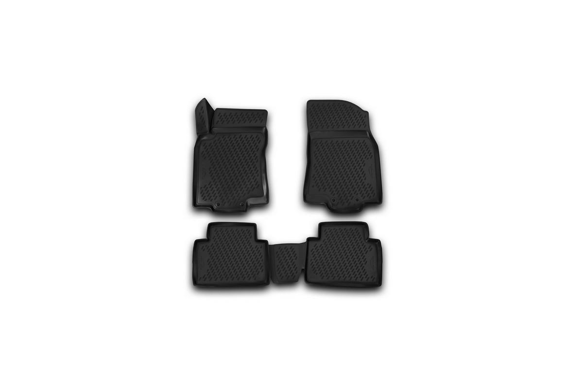 Набор автомобильных 3D-ковриков Novline-Autofamily для Nissan X-Trail, 2003-2015, в салон, 4 штCARNIS00059Набор Novline-Autofamily состоит из 4 ковриков, изготовленных из полиуретана.Основная функция ковров - защита салона автомобиля от загрязнения и влаги. Это достигается за счет высоких бортов, перемычки на тоннель заднего ряда сидений, элементов формы и текстуры, свойств материала, а также запатентованной технологией 3D-перемычки в зоне отдыха ноги водителя, что обеспечивает дополнительную защиту, сохраняя салон автомобиля в первозданном виде.Материал, из которого сделаны коврики, обладает антискользящими свойствами. Для фиксации ковров в салоне автомобиля в комплекте с ними используются специальные крепежи. Форма передней части водительского ковра, уходящая под педаль акселератора, исключает нештатное заедание педалей.Набор подходит для Nissan X-Trail 2003-2015 года выпуска.
