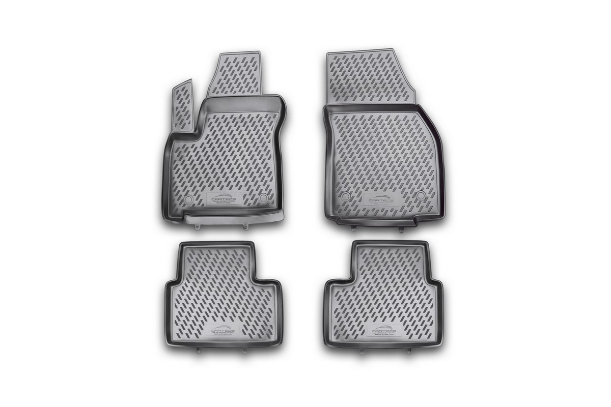 Набор автомобильных ковриков Novline-Autofamily для Opel Meriva 03/2010-, в салон, 4 штCAROPL00025hНабор автомобильных ковриков Novline-Autofamily, изготовленный из полиуретана, состоит из 4 ковриков, которые учитывают все особенности каждой модели автомобиля и полностью повторяют контуры пола. Полиуретановые автомобильные коврики для салона произведены из высококачественного материала, который держит форму, прочный и не пачкает обувь. Коврики в салон не только улучшат внешний вид салона вашего автомобиля, но и надежно уберегут его от пыли, грязи и сырости, а значит, защитят кузов от коррозии. Полиуретановые коврики для автомобиля гладкие, приятные и не пропускают влагу. Ковры для автомобилей надежно крепятся на полу и не скользят, что очень важно во время движения. Чистятся коврики очень просто: как при помощи автомобильного пылесоса, так и различными моющими средствами. Набор подходит для Opel Meriva с марта 2010 года выпуска.