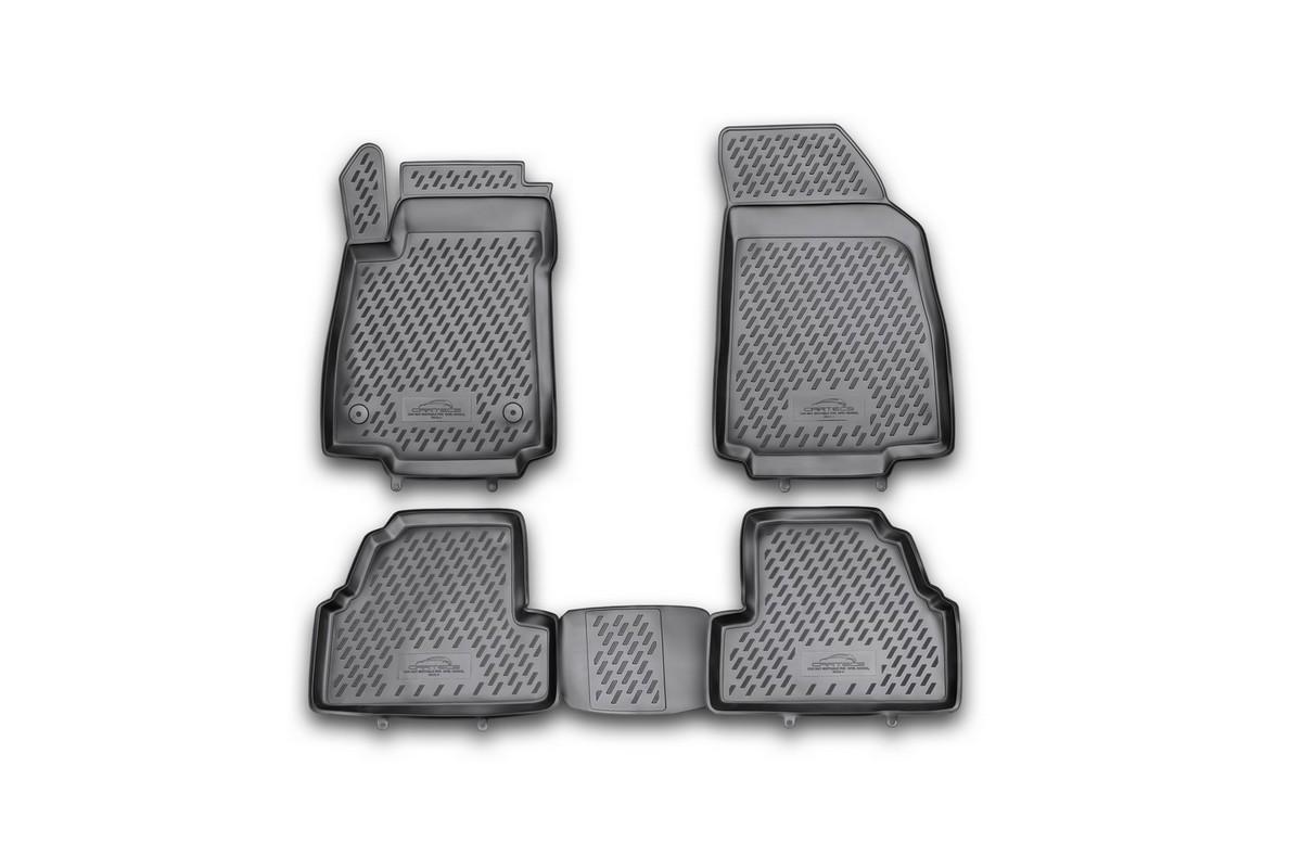 Набор автомобильных ковриков Novline-Autofamily для Opel Mokka 2012-, в салон, 4 шт. CAROPL00029hCAROPL00029hНабор автомобильных ковриков Novline-Autofamily, изготовленный из полиуретана, состоит из 4 ковриков, которые учитывают все особенности каждой модели автомобиля и полностью повторяют контуры пола. Полиуретановые автомобильные коврики для салона произведены из высококачественного материала, который держит форму, прочный и не пачкает обувь. Коврики в салон не только улучшат внешний вид салона вашего автомобиля, но и надежно уберегут его от пыли, грязи и сырости, а значит, защитят кузов от коррозии. Полиуретановые коврики для автомобиля гладкие, приятные и не пропускают влагу. Ковры для автомобилей надежно крепятся на полу и не скользят, что очень важно во время движения. Чистятся коврики очень просто: как при помощи автомобильного пылесоса, так и различными моющими средствами. Набор подходит для Opel Mokka с 2012 года выпуска.
