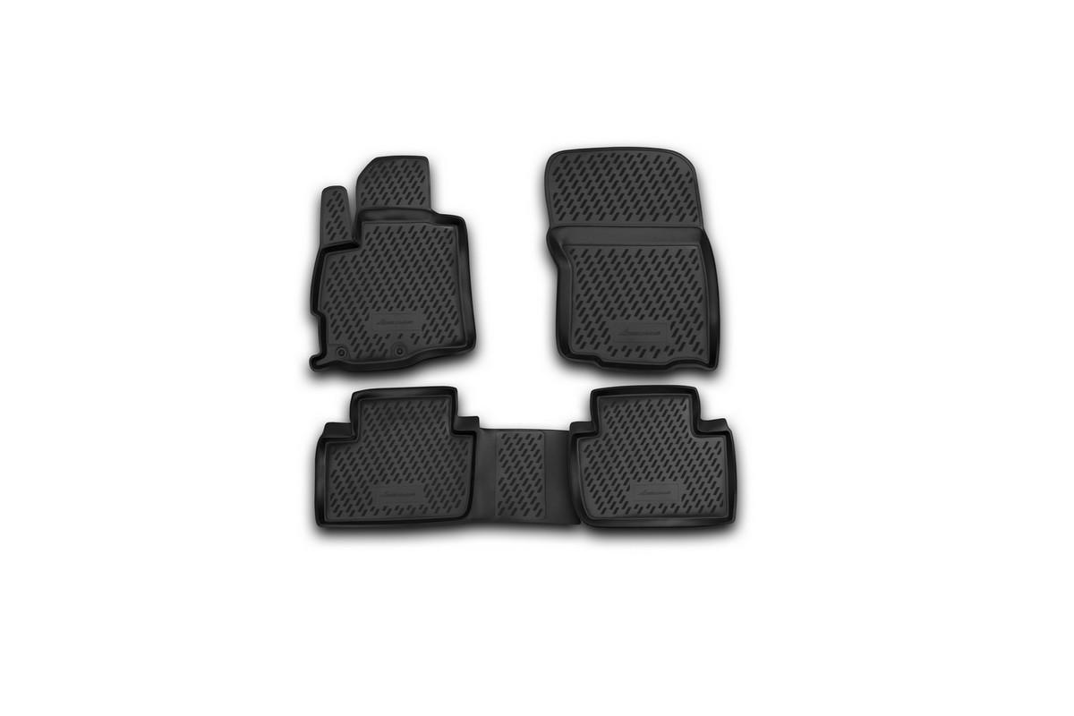 Набор автомобильных ковриков Novline-Autofamily для Peugeot 4007 2007-, в салон, 4 штCARPGT00013Набор автомобильных ковриков Novline-Autofamily, изготовленный из полиуретана, состоит из 4 ковриков, которые учитывают все особенности каждой модели автомобиля и полностью повторяют контуры пола. Полиуретановые автомобильные коврики для салона произведены из высококачественного материала, который держит форму, прочный и не пачкает обувь. Коврики в салон не только улучшат внешний вид салона вашего автомобиля, но и надежно уберегут его от пыли, грязи и сырости, а значит, защитят кузов от коррозии. Полиуретановые коврики для автомобиля гладкие, приятные и не пропускают влагу. Ковры для автомобилей надежно крепятся на полу и не скользят, что очень важно во время движения. Чистятся коврики очень просто: как при помощи автомобильного пылесоса, так и различными моющими средствами. Набор подходит для Peugeot 4007 с 2007 года выпуска.