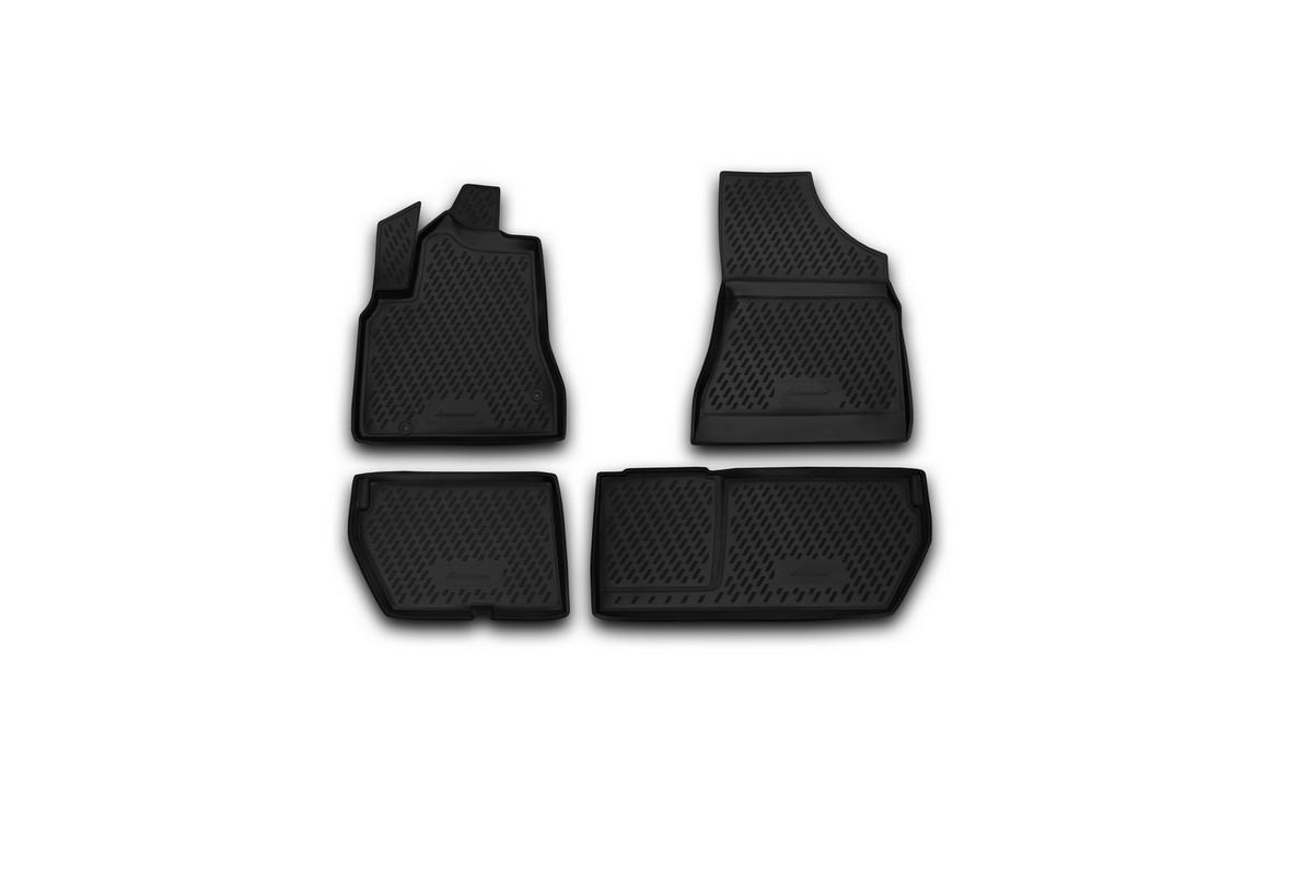 Набор автомобильных ковриков Novline-Autofamily для Peugeot Tepee, в салон, 4 штCARPGT00021Набор автомобильных ковриков Novline-Autofamily, изготовленный из полиуретана, состоит из 4 ковриков, которые учитывают все особенности каждой модели автомобиля и полностью повторяют контуры пола. Полиуретановые автомобильные коврики для салона произведены из высококачественного материала, который держит форму, прочный и не пачкает обувь. Коврики в салон не только улучшат внешний вид салона вашего автомобиля, но и надежно уберегут его от пыли, грязи и сырости, а значит, защитят кузов от коррозии. Полиуретановые коврики для автомобиля гладкие, приятные и не пропускают влагу. Ковры для автомобилей надежно крепятся на полу и не скользят, что очень важно во время движения. Чистятся коврики очень просто: как при помощи автомобильного пылесоса, так и различными моющими средствами. Набор подходит для Peugeot Tepee.