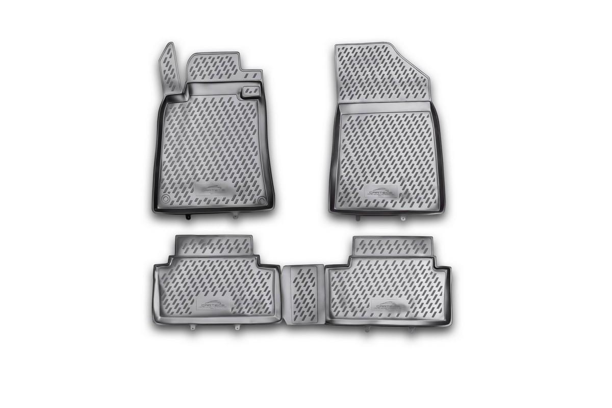 Набор автомобильных ковриков Novline-Autofamily для Peugeot 508 02/2012-, в салон, 4 шт. CARPGT00025CARPGT00025Набор автомобильных ковриков Novline-Autofamily, изготовленный из полиуретана, состоит из 4 ковриков, которые учитывают все особенности каждой модели автомобиля и полностью повторяют контуры пола. Полиуретановые автомобильные коврики для салона произведены из высококачественного материала, который держит форму, прочный и не пачкает обувь. Коврики в салон не только улучшат внешний вид салона вашего автомобиля, но и надежно уберегут его от пыли, грязи и сырости, а значит, защитят кузов от коррозии. Полиуретановые коврики для автомобиля гладкие, приятные и не пропускают влагу. Ковры для автомобилей надежно крепятся на полу и не скользят, что очень важно во время движения. Чистятся коврики очень просто: как при помощи автомобильного пылесоса, так и различными моющими средствами. Набор подходит для Peugeot 508 с февраля 2012 года выпуска.