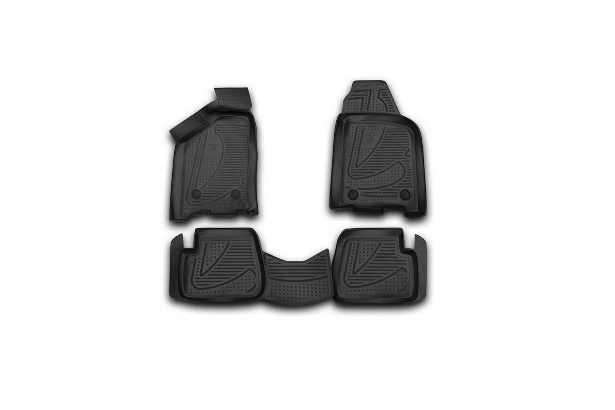 Набор автомобильных 3D-ковриков Novline-Autofamily для Lada Samara, 2004->, в салон, 4 штF900250E1Набор Novline-Autofamily состоит из 4 ковриков, изготовленных из полиуретана.Основная функция ковров - защита салона автомобиля от загрязнения и влаги. Это достигается за счет высоких бортов, перемычки на тоннель заднего ряда сидений, элементов формы и текстуры, свойств материала, а также запатентованной технологией 3D-перемычки в зоне отдыха ноги водителя, что обеспечивает дополнительную защиту, сохраняя салон автомобиля в первозданном виде.Материал, из которого сделаны коврики, обладает антискользящими свойствами. Для фиксации ковров в салоне автомобиля в комплекте с ними используются специальные крепежи. Форма передней части водительского ковра, уходящая под педаль акселератора, исключает нештатное заедание педалей.Набор подходит для Lada Samara с 2004 года выпуска.