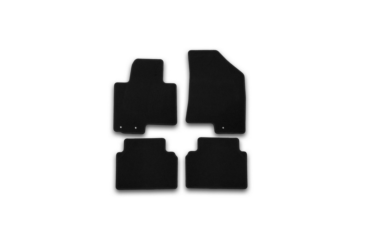 Коврики в салон автомобиля Klever, для Kia Sportage 2010->, внедорожник, 4 штKVR01253301200kТекстильные коврики Klever Standard можно эксплуатировать круглый год: с ними комфортно в теплое время и практично в слякоть. Текстильные коврики Klever эффективно задерживают грязь и влагу благодаря своей основе.Коврики изготавливаются индивидуально для каждой модели автомобиля. Шьются из прочного ковролина ведущего европейского производителя. Изделие легко чистится пылесосом и щеткой. Комплектуются фиксаторами для надежного крепления к полу автомобиля. Также на водительском коврике предусмотрен полиуретановый подпятник. Уважаемые клиенты, обращаем ваше внимание, что фотографии на коврики универсальные и не отражают реальную форму изделия. При этом само изделие идет точно под размер указанного автомобиля.