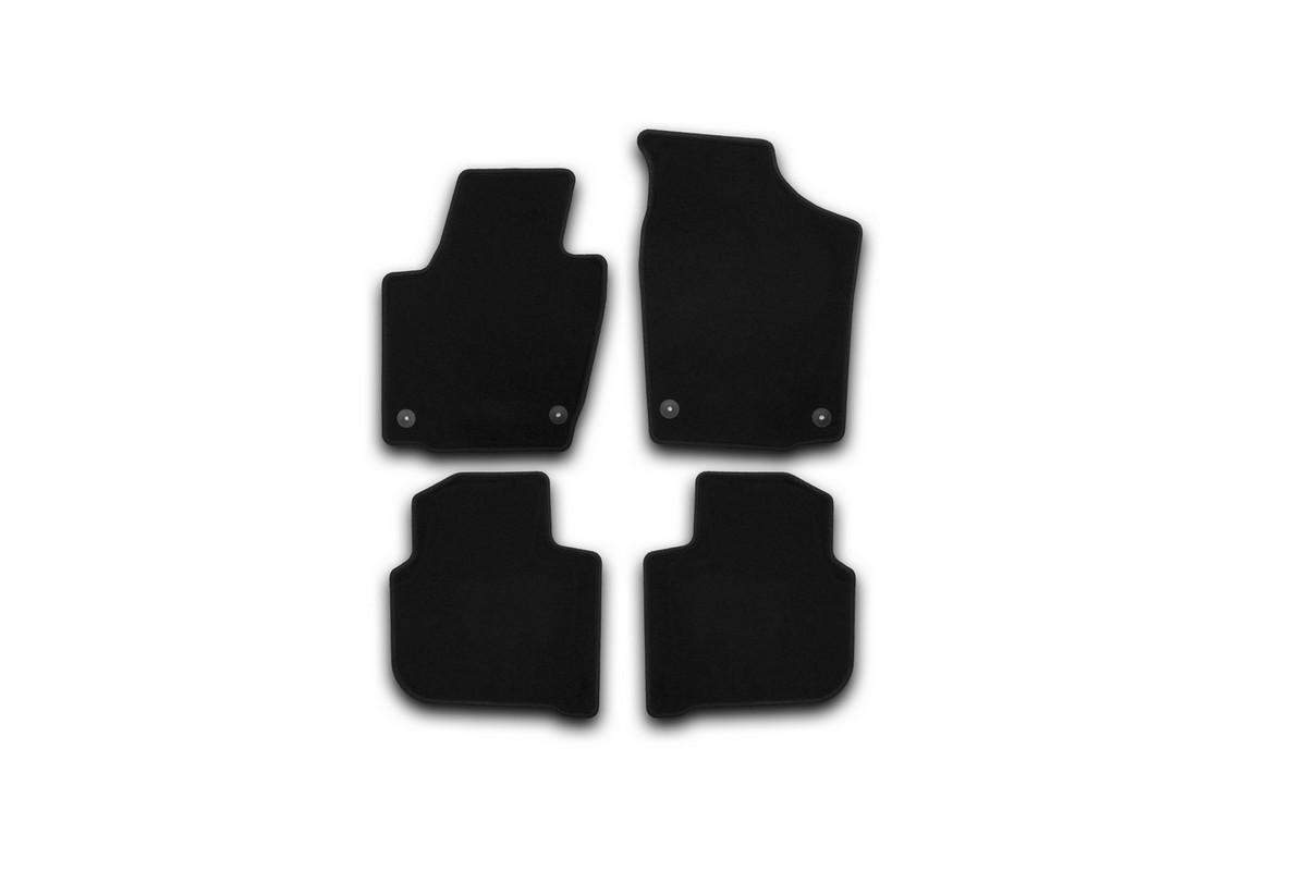 Набор автомобильных ковриков Klever для Skoda Rapid 2012-, седан, в салон, 4 шт