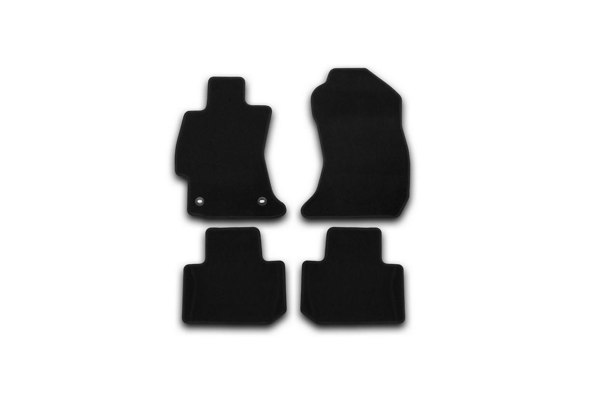 Набор автомобильных ковриков Klever для Subaru Forester 2013-, кроссовер, в салон, 4 шт. KVR01461901200kKVR01461901200kНабор автомобильных ковриков Klever, изготовленный из текстиля, состоит из 4 ковриков, которые учитывают все особенности каждой модели автомобиля и полностью повторяют контуры пола. Текстильные автомобильные коврики для салона произведены из высококачественного материала, который держит форму, прочный и не пачкает обувь. Коврики в салон не только улучшат внешний вид салона вашего автомобиля, но и надежно уберегут его от пыли, грязи и сырости, а значит, защитят кузов от коррозии. Текстильные коврики для автомобиля мягкие и приятные, а их основа из вспененного полиуретана не пропускает влагу. Ковры для автомобилей надежно крепятся на полу и не скользят, что очень важно во время движения. Чистятся коврики очень просто: как при помощи автомобильного пылесоса, так и различными моющими средствами. Набор подходит для Subaru Forester кроссовер с 2013 года выпуска.
