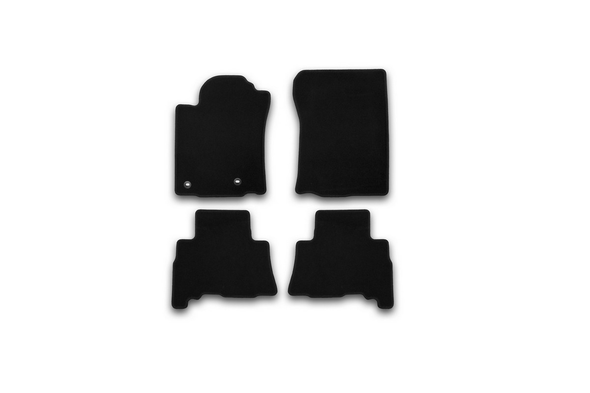 Набор автомобильных ковриков Klever для Toyota Land Cruiser 150 2013-2015, 2015-, 5 мест, внедорожник, в салон, 4 шт. KVR01482901200kKVR01482901200kНабор автомобильных ковриков Klever, изготовленный из текстиля, состоит из 4 ковриков, которые учитывают все особенности каждой модели автомобиля и полностью повторяют контуры пола. Текстильные автомобильные коврики для салона произведены из высококачественного материала, который держит форму, прочный и не пачкает обувь. Коврики в салон не только улучшат внешний вид салона вашего автомобиля, но и надежно уберегут его от пыли, грязи и сырости, а значит, защитят кузов от коррозии. Текстильные коврики для автомобиля мягкие и приятные, а их основа из вспененного полиуретана не пропускает влагу. Ковры для автомобилей надежно крепятся на полу и не скользят, что очень важно во время движения. Чистятся коврики очень просто: как при помощи автомобильного пылесоса, так и различными моющими средствами. Набор подходит для Toyota Land Cruiser 150, 5 мест, внедорожник 2013-2015, 2015 и позднее годов выпуска.