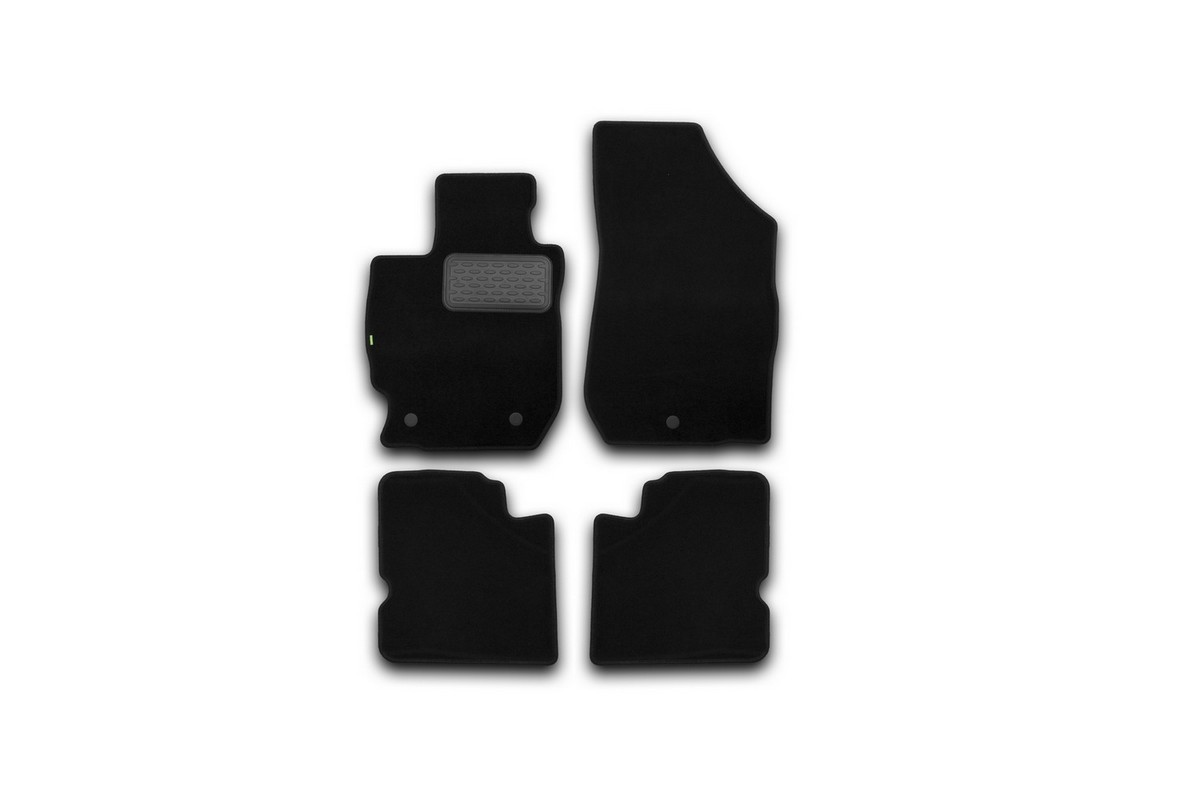 Набор автомобильных ковриков Klever для Nissan Almera АКПП 2012-, седан, в салон, 4 шт. KVR02364001210khKVR02364001210khНабор автомобильных ковриков Klever, изготовленный из текстиля, состоит из 4 ковриков, которые учитывают все особенности каждой модели автомобиля и полностью повторяют контуры пола. Текстильные автомобильные коврики для салона произведены из высококачественного материала, который держит форму, прочный и не пачкает обувь. Коврики в салон не только улучшат внешний вид салона вашего автомобиля, но и надежно уберегут его от пыли, грязи и сырости, а значит, защитят кузов от коррозии. Текстильные коврики для автомобиля мягкие и приятные, а их основа из вспененного полиуретана не пропускает влагу. Ковры для автомобилей надежно крепятся на полу и не скользят, что очень важно во время движения. Чистятся коврики очень просто: как при помощи автомобильного пылесоса, так и различными моющими средствами. Набор подходит для Nissan Almera АКПП седан с 2012 года выпуска.