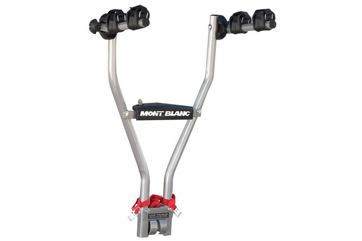 Велокрепление для автомобиля Mont Blanc TowQuick, универсальное. MB481000MB481000Универсальное автомобильное крепление Mont Blanc TowQuick позволяет надежно зафиксировать раму одного или двух велосипедов благодаря мягким фиксаторам.Можно поставить только на автомобиль, оборудованный фаркопом.Максимальная грузоподъемность - 30 кг.