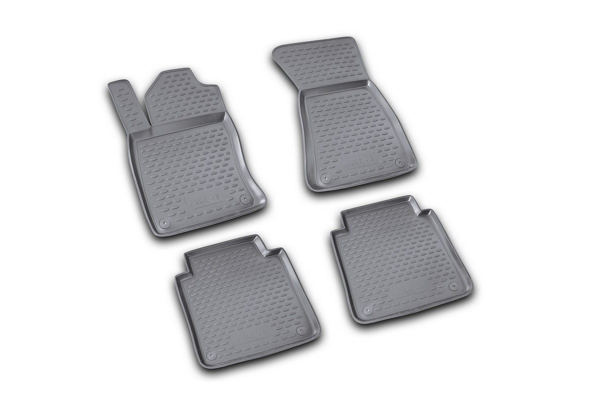 Набор автомобильных ковриков Novline-Autofamily для Audi A-8 Long 02/2002-2009, в салон, цвет: черный 4 штNLC.04.13.210kНабор автомобильных ковриков Novline-Autofamily, изготовленный из полиуретана, состоит из 4 ковриков, которые учитывают все особенности каждой модели автомобиля и полностью повторяют контуры пола. Полиуретановые автомобильные коврики для салона произведены из высококачественного материала, который держит форму, прочный и не пачкает обувь. Коврики в салон не только улучшат внешний вид салона вашего автомобиля, но и надежно уберегут его от пыли, грязи и сырости, а значит, защитят кузов от коррозии. Полиуретановые коврики для автомобиля гладкие, приятные и не пропускают влагу. Ковры для автомобилей надежно крепятся на полу и не скользят, что очень важно во время движения. Чистятся коврики очень просто: как при помощи автомобильного пылесоса, так и различными моющими средствами. Набор подходит для Audi A-8 Long февраль 2002 - 2009 года выпуска.