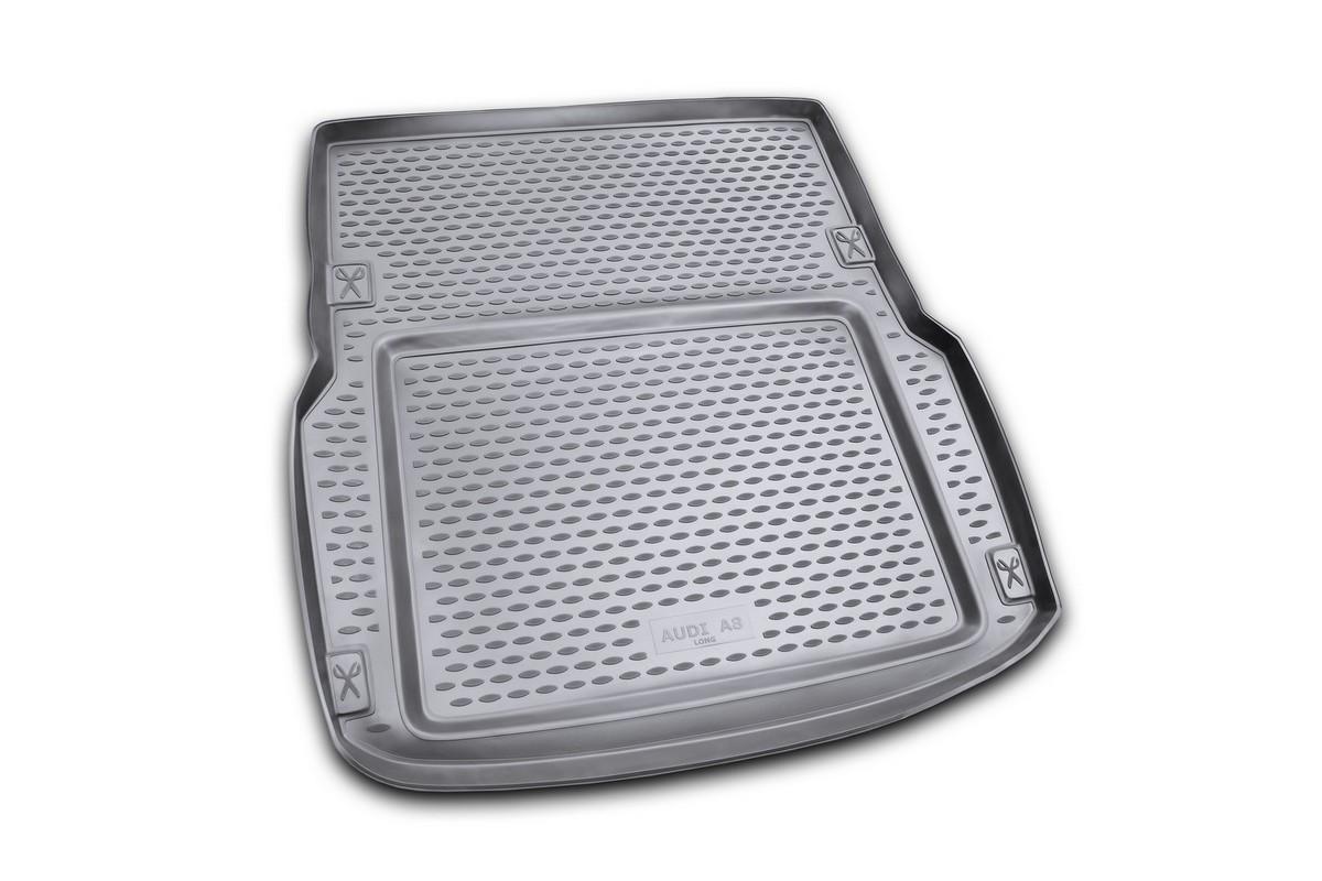 Коврик автомобильный Novline-Autofamily для Audi A8 седан 02/2002-01/2010, в багажникNLC.04.13.B10Автомобильный коврик Novline-Autofamily, изготовленный из полиуретана, позволит вам без особых усилий содержать в чистоте багажный отсек вашего авто и при этом перевозить в нем абсолютно любые грузы. Этот модельный коврик идеально подойдет по размерам багажнику вашего автомобиля. Такой автомобильный коврик гарантированно защитит багажник от грязи, мусора и пыли, которые постоянно скапливаются в этом отсеке. А кроме того, поддон не пропускает влагу. Все это надолго убережет важную часть кузова от износа. Коврик в багажнике сильно упростит для вас уборку. Согласитесь, гораздо проще достать и почистить один коврик, нежели весь багажный отсек. Тем более, что поддон достаточно просто вынимается и вставляется обратно. Мыть коврик для багажника из полиуретана можно любыми чистящими средствами или просто водой. При этом много времени у вас уборка не отнимет, ведь полиуретан устойчив к загрязнениям.Если вам приходится перевозить в багажнике тяжелые грузы, за сохранность коврика можете не беспокоиться. Он сделан из прочного материала, который не деформируется при механических нагрузках и устойчив даже к экстремальным температурам. А кроме того, коврик для багажника надежно фиксируется и не сдвигается во время поездки, что является дополнительной гарантией сохранности вашего багажа.Коврик имеет форму и размеры, соответствующие модели данного автомобиля.