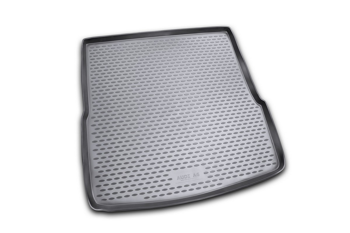 Коврик автомобильный Novline-Autofamily для Audi A6 Allroad Quattro / Avant универсал 05/2006-, в багажник. NLC.04.14.B12NLC.04.14.B12Автомобильный коврик Novline-Autofamily, изготовленный из полиуретана, позволит вам без особых усилий содержать в чистоте багажный отсек вашего авто и при этом перевозить в нем абсолютно любые грузы. Этот модельный коврик идеально подойдет по размерам багажнику вашего автомобиля. Такой автомобильный коврик гарантированно защитит багажник от грязи, мусора и пыли, которые постоянно скапливаются в этом отсеке. А кроме того, поддон не пропускает влагу. Все это надолго убережет важную часть кузова от износа. Коврик в багажнике сильно упростит для вас уборку. Согласитесь, гораздо проще достать и почистить один коврик, нежели весь багажный отсек. Тем более, что поддон достаточно просто вынимается и вставляется обратно. Мыть коврик для багажника из полиуретана можно любыми чистящими средствами или просто водой. При этом много времени у вас уборка не отнимет, ведь полиуретан устойчив к загрязнениям.Если вам приходится перевозить в багажнике тяжелые грузы, за сохранность коврика можете не беспокоиться. Он сделан из прочного материала, который не деформируется при механических нагрузках и устойчив даже к экстремальным температурам. А кроме того, коврик для багажника надежно фиксируется и не сдвигается во время поездки, что является дополнительной гарантией сохранности вашего багажа.Коврик имеет форму и размеры, соответствующие модели данного автомобиля.