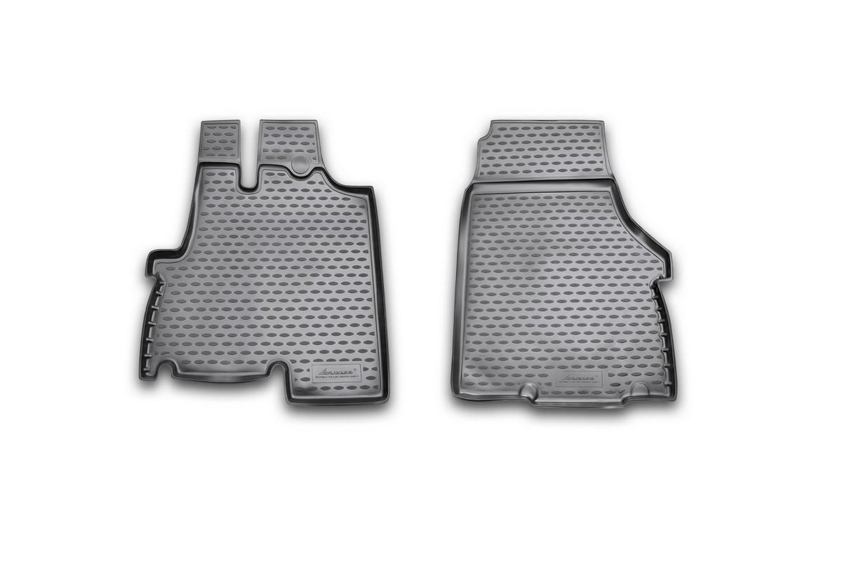 Набор автомобильных ковриков Novline-Autofamily для Fiat Ducato 2012, в салон, 2 штNLC.15.28.210Набор автомобильных ковриков Novline-Autofamily, изготовленный из полиуретана, состоит из 2 ковриков, которые учитывают все особенности каждой модели автомобиля и полностью повторяют контуры пола. Полиуретановые автомобильные коврики для салона произведены из высококачественного материала, который держит форму, прочный и не пачкает обувь. Коврики в салон не только улучшат внешний вид салона вашего автомобиля, но и надежно уберегут его от пыли, грязи и сырости, а значит, защитят кузов от коррозии. Полиуретановые коврики для автомобиля гладкие, приятные и не пропускают влагу. Ковры для автомобилей надежно крепятся на полу и не скользят, что очень важно во время движения. Чистятся коврики очень просто: как при помощи автомобильного пылесоса, так и различными моющими средствами. Набор подходит для Fiat Ducato 2012 года выпуска.