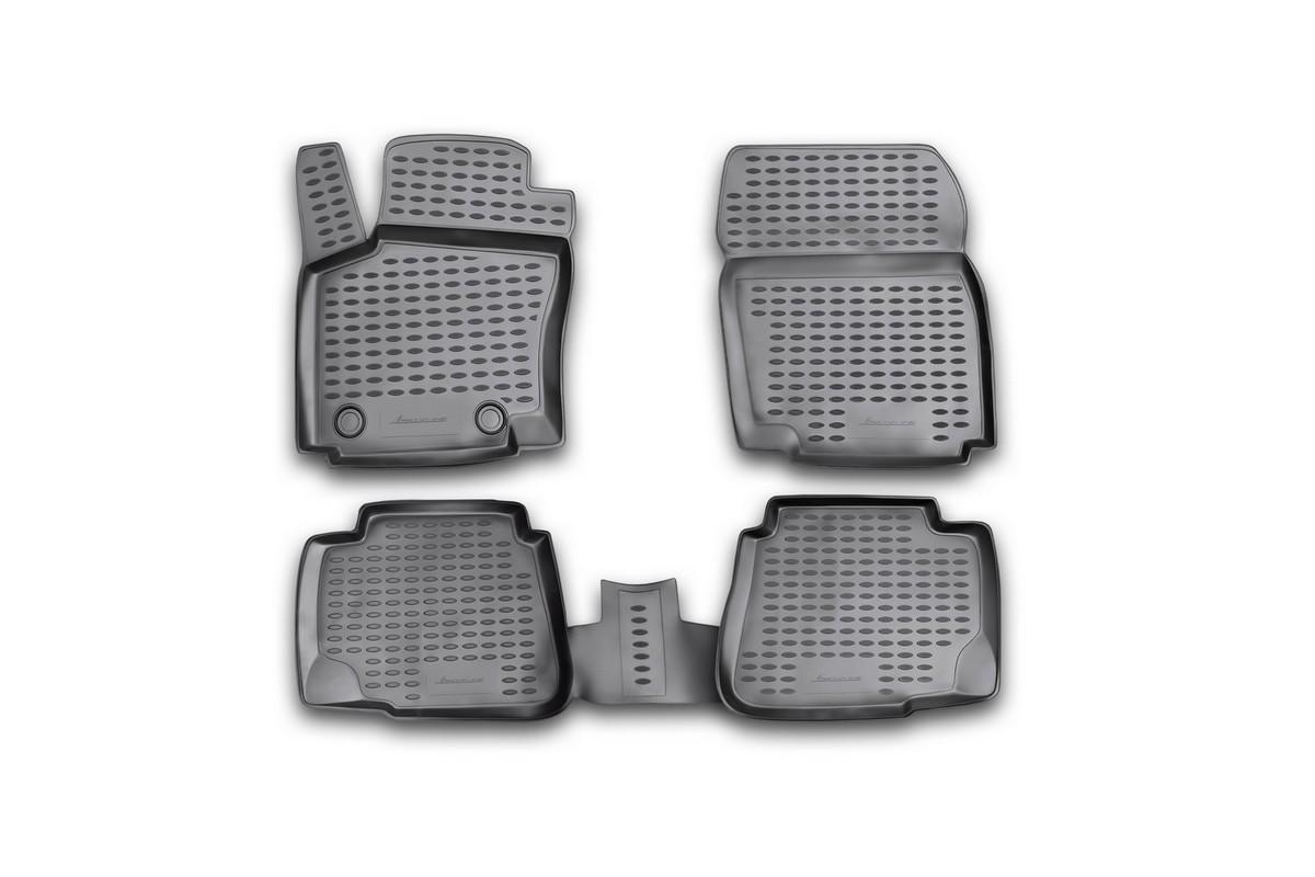Набор автомобильных ковриков Novline-Autofamily для Ford Mondeo 2007-2014, в салон, 4 шт. NLC.16.18.210NLC.16.18.210Набор автомобильных ковриков Novline-Autofamily, изготовленный из полиуретана, состоит из 4 ковриков, которые учитывают все особенности каждой модели автомобиля и полностью повторяют контуры пола. Полиуретановые автомобильные коврики для салона произведены из высококачественного материала, который держит форму, прочный и не пачкает обувь. Коврики в салон не только улучшат внешний вид салона вашего автомобиля, но и надежно уберегут его от пыли, грязи и сырости, а значит, защитят кузов от коррозии. Полиуретановые коврики для автомобиля гладкие, приятные и не пропускают влагу. Ковры для автомобилей надежно крепятся на полу и не скользят, что очень важно во время движения. Чистятся коврики очень просто: как при помощи автомобильного пылесоса, так и различными моющими средствами. Набор подходит для Ford Mondeo 2007-2014 годов выпуска.