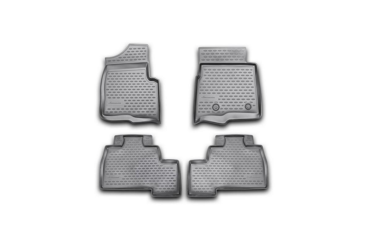 Набор автомобильных ковриков Novline-Autofamily для Ford F-150 Super Crew 2009-2014, 4 штNLC.16.38.210kНабор автомобильных ковриков Novline-Autofamily, изготовленный из полиуретана, состоит из 4 ковриков, которые учитывают все особенности каждой модели автомобиля и полностью повторяют контуры пола. Полиуретановые автомобильные коврики для салона произведены из высококачественного материала, который держит форму, прочный и не пачкает обувь. Коврики в салон не только улучшат внешний вид салона вашего автомобиля, но и надежно уберегут его от пыли, грязи и сырости, а значит, защитят кузов от коррозии. Полиуретановые коврики для автомобиля гладкие, приятные и не пропускают влагу. Ковры для автомобилей надежно крепятся на полу и не скользят, что очень важно во время движения. Чистятся коврики очень просто: как при помощи автомобильного пылесоса, так и различными моющими средствами. Набор подходит для Ford F-150 Super Crew 2009-2014 годов выпуска.