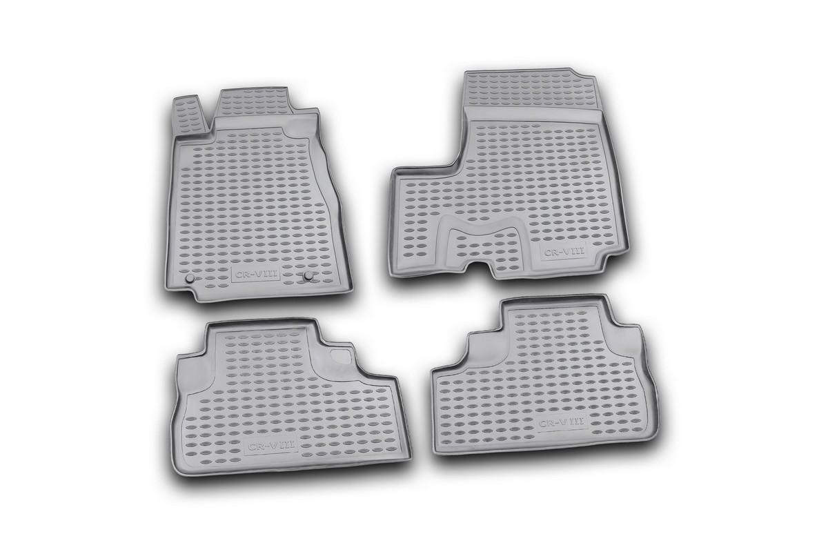 Коврики в салон автомобиля Novline-Autofamily для Honda CR -V III, 2007 -, с сабвуфером, 4 шт. Nlc.18.16.210kNLC.18.16.210kКоврики Novline-Autofamily улучшат внешний вид салона автомобиля и надежно уберегут его от пыли, грязи и сырости, а значит, защитят кузов от коррозии. Полиуретановые коврики гладкие, приятные и не пропускает влагу. Полиуретановые автомобильные коврики произведены из высококачественного материала, который держит форму и не пачкает обувь. Коврики надежно крепятся на полу и не скользят, что очень важно во время движения, особенно для водителя. Изделия из полиуретана надежно удерживают грязь и влагу, при этом всегда выглядят довольно опрятно. И чистятся они очень просто: как при помощи автомобильного пылесоса, так и различными моющими средствами.