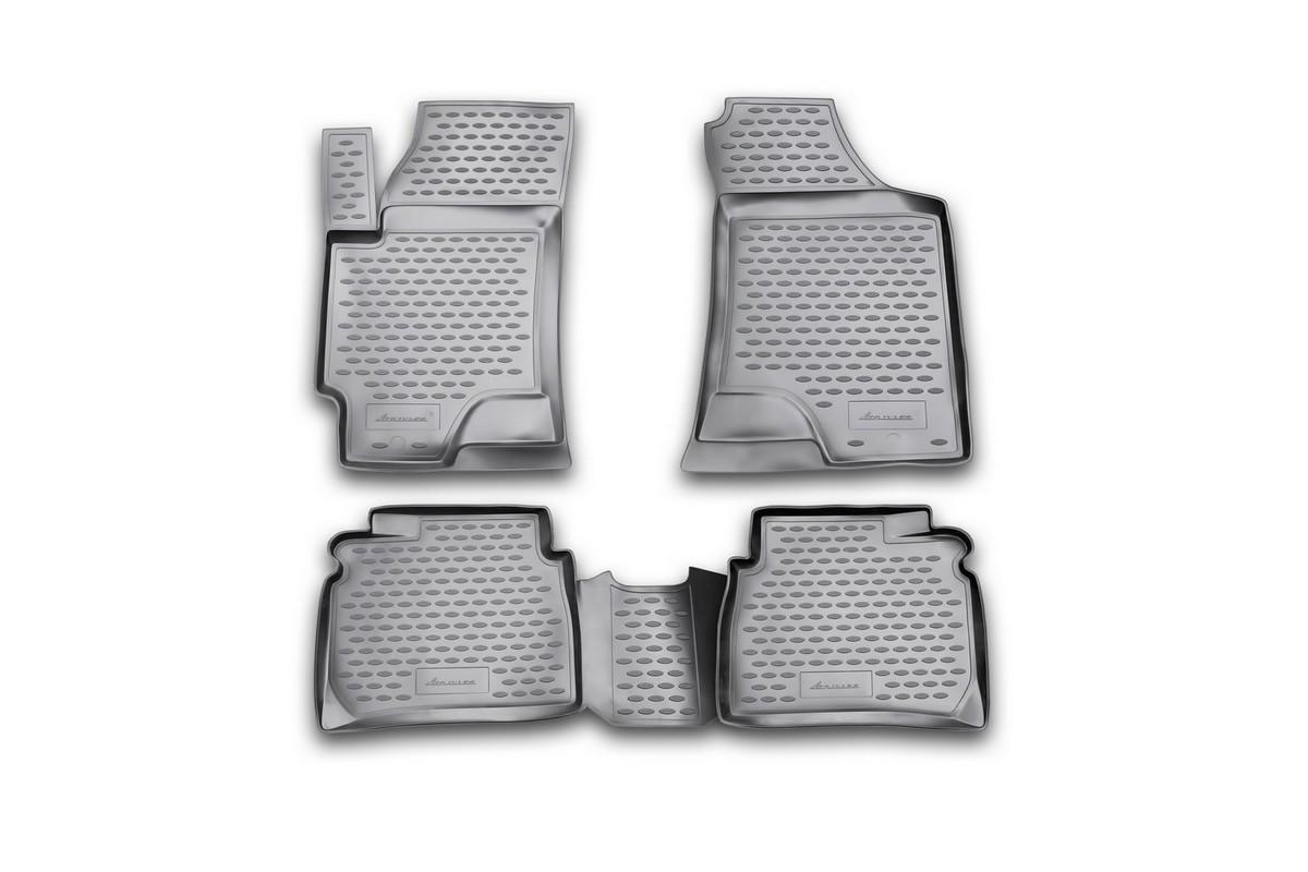 Коврики в салон автомобиля Novline-Autofamily, для HYUNDAI Elantra XD, 2001-, 4 штNLC.20.07.210Коврики Novline-Autofamily улучшат внешний вид салона автомобиля и надежно уберегут его от пыли, грязи и сырости, а значит, защитят кузов от коррозии. Полиуретановые коврики гладкие, приятные и не пропускает влагу.Полиуретановые автомобильные коврики произведены из высококачественного материала, который держит форму и не пачкает обувь.Коврики надежно крепятся на полу и не скользят, что очень важно во время движения, особенно для водителя.Изделия из полиуретана надежно удерживают грязь и влагу, при этом всегда выглядят довольно опрятно. И чистится они очень просто: как при помощи автомобильного пылесоса, так и различными моющими средствами.