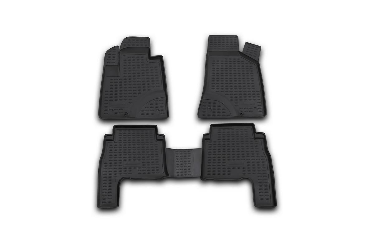 Набор автомобильных ковриков Novline-Autofamily для Hyundai Santa Fe 2006-2010, в салон, 4 шт. NLC.20.18.210kh