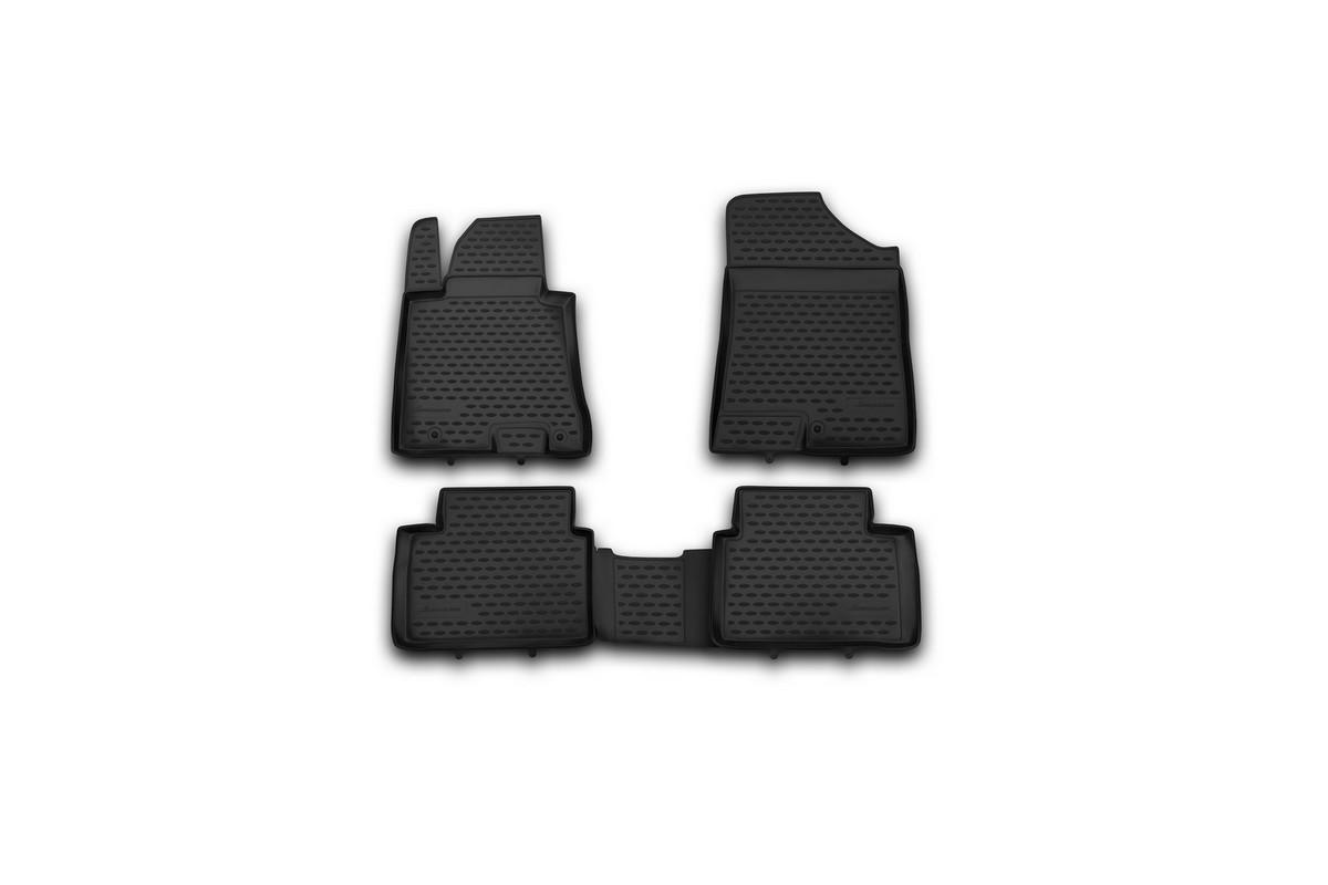 Набор автомобильных ковриков Novline-Autofamily для Hyundai i30 2012-, в салон, 4 штNLC.20.51.210hНабор автомобильных ковриков Novline-Autofamily, изготовленный из полиуретана, состоит из 4 ковриков, которые учитывают все особенности каждой модели автомобиля и полностью повторяют контуры пола. Полиуретановые автомобильные коврики для салона произведены из высококачественного материала, который держит форму, прочный и не пачкает обувь. Коврики в салон не только улучшат внешний вид салона вашего автомобиля, но и надежно уберегут его от пыли, грязи и сырости, а значит, защитят кузов от коррозии. Полиуретановые коврики для автомобиля гладкие, приятные и не пропускают влагу. Ковры для автомобилей надежно крепятся на полу и не скользят, что очень важно во время движения. Чистятся коврики очень просто: как при помощи автомобильного пылесоса, так и различными моющими средствами. Набор подходит для Hyundai i30 с 2012 года выпуска.