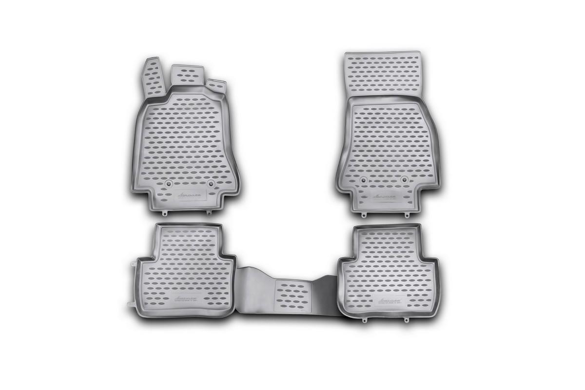 Набор автомобильных ковриков Novline-Autofamily для Jaguar XF 2009-, в салон, цвет: черный, 4 штNLC.23.01.210khНабор автомобильных ковриков Novline-Autofamily, изготовленный из полиуретана, состоит из 4 ковриков, которые учитывают все особенности каждой модели автомобиля и полностью повторяют контуры пола. Полиуретановые автомобильные коврики для салона произведены из высококачественного материала, который держит форму, прочный и не пачкает обувь. Коврики в салон не только улучшат внешний вид салона вашего автомобиля, но и надежно уберегут его от пыли, грязи и сырости, а значит, защитят кузов от коррозии. Полиуретановые коврики для автомобиля гладкие, приятные и не пропускают влагу. Ковры для автомобилей надежно крепятся на полу и не скользят, что очень важно во время движения. Чистятся коврики очень просто: как при помощи автомобильного пылесоса, так и различными моющими средствами. Набор подходит для Jaguar XF с 2009 годов выпуска.