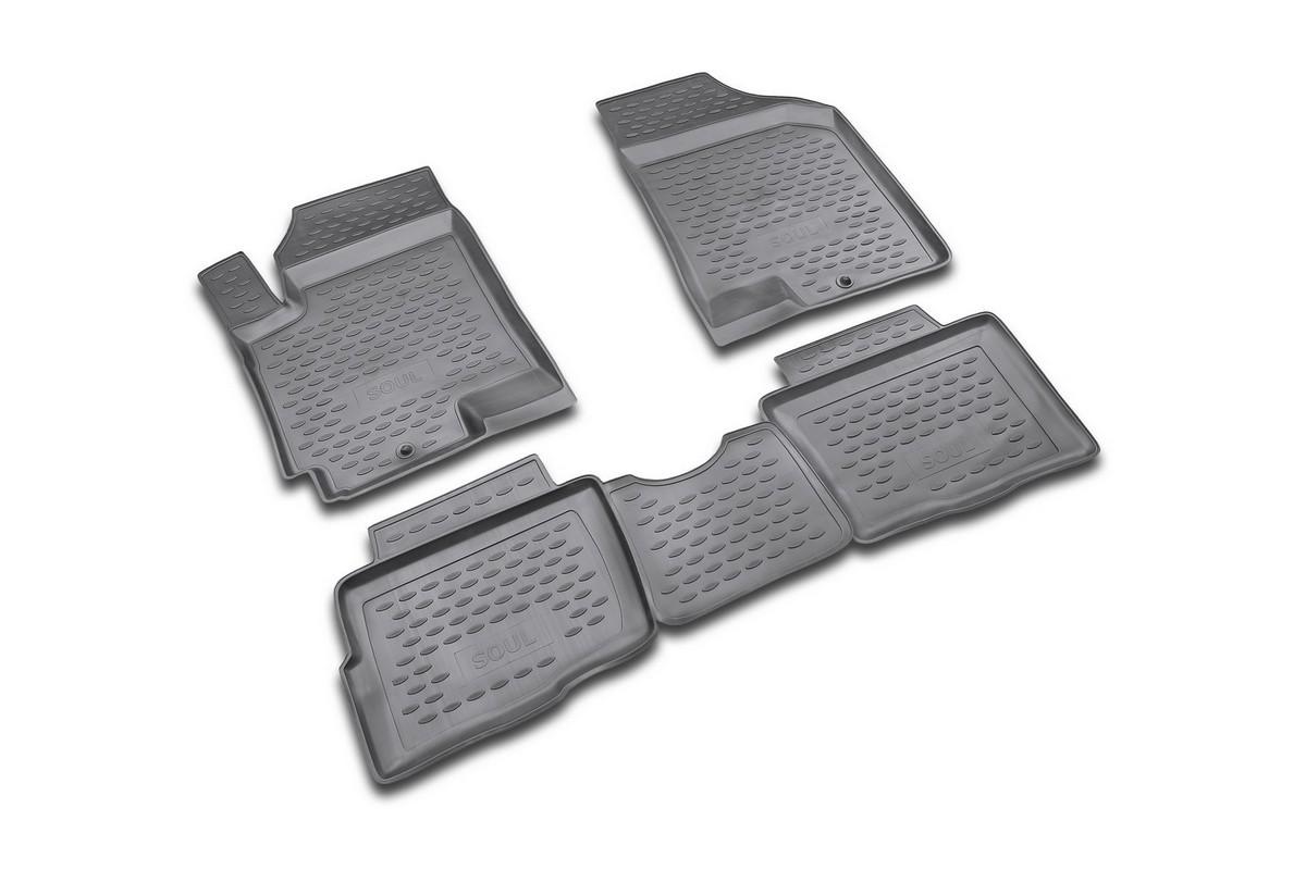 Коврики в салон KIA Soul 2008->, 4 шт. (полиуретан). NLC.25.25.210NLC.25.25.210Коврики в салон не только улучшат внешний вид салона вашего автомобиля, но и надежно уберегут его от пыли, грязи и сырости, а значит, защитят кузов от коррозии. Полиуретановые коврики для автомобиля гладкие, приятные и не пропускают влагу. Автомобильные коврики в салон учитывают все особенности каждой модели и полностью повторяют контуры пола. Благодаря этому их не нужно будет подгибать или обрезать. И самое главное — они не будут мешать педалям.Полиуретановые автомобильные коврики для салона произведены из высококачественного материала, который держит форму и не пачкает обувь. К тому же, этот материал очень прочный (его, к примеру, не получится проткнуть каблуком).Некоторые автоковрики становятся источником неприятного запаха в автомобиле. С полиуретановыми ковриками Novline вы можете этого не бояться.Ковры для автомобилей надежно крепятся на полу и не скользят, что очень важно во время движения, особенно для водителя.Автоковры из полиуретана надежно удерживают грязь и влагу, при этом всегда выглядят довольно опрятно. И чистятся они очень просто: как при помощи автомобильного пылесоса, так и различными моющими средствами.