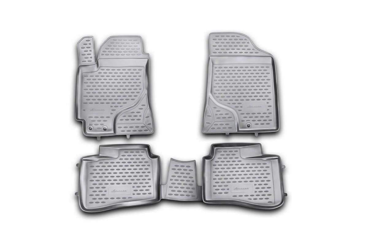 набор автомобильных 3d ковриков l locker для kia cerato iii sd 13 в салон 4 шт Набор автомобильных ковриков Novline-Autofamily для Kia Cerato 2009-2013, в салон, цвет: черный, 4 шт. NLC.25.26.210h