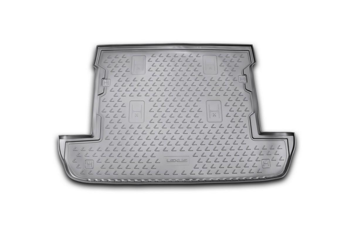 Коврик в багажник LEXUS LX 570 2007-2012, 2012->, внед. 7 мест, кор. (полиуретан)NLC.29.07.B12Автомобильный коврик в багажник позволит вам без особых усилий содержать в чистоте багажный отсек вашего авто и при этом перевозить в нем абсолютно любые грузы. Этот модельный коврик идеально подойдет по размерам багажнику вашего авто. Такой автомобильный коврик гарантированно защитит багажник вашего автомобиля от грязи, мусора и пыли, которые постоянно скапливаются в этом отсеке. А кроме того, поддон не пропускает влагу. Все это надолго убережет важную часть кузова от износа. Коврик в багажнике сильно упростит для вас уборку. Согласитесь, гораздо проще достать и почистить один коврик, нежели весь багажный отсек. Тем более, что поддон достаточно просто вынимается и вставляется обратно. Мыть коврик для багажника из полиуретана можно любыми чистящими средствами или просто водой. При этом много времени у вас уборка не отнимет, ведь полиуретан устойчив к загрязнениям.Если вам приходится перевозить в багажнике тяжелые грузы, за сохранность автоковрика можете не беспокоиться. Он сделан из прочного материала, который не деформируется при механических нагрузках и устойчив даже к экстремальным температурам. А кроме того, коврик для багажника надежно фиксируется и не сдвигается во время поездки — это дополнительная гарантия сохранности вашего багажа.