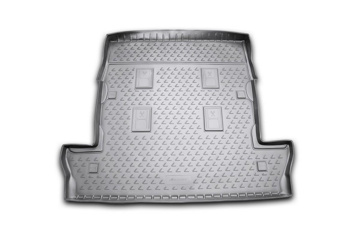 Коврик в багажник Novline-Autofamily, для LEXUS LX 570, 2007-2012, 2012-, внедорожник, длинный, 7 местNLC.29.07.G13Автомобильный коврик в багажник Novline-Autofamily позволит вам без особых усилий содержать в чистоте багажный отсек вашего авто и при этом перевозить в нем абсолютно любые грузы. Этот модельный коврик идеально подойдет по размерам багажнику вашего авто.Такой автомобильный коврик гарантированно защитит багажник вашего автомобиля от грязи, мусора и пыли, которые постоянно скапливаются в этом отсеке. А кроме того, поддон не пропускает влагу. Все это надолго убережет важную часть кузова от износа.Мыть коврик для багажника из полиуретана можно любыми чистящими средствами или просто водой. Он сделан из прочного материала, который не деформируется при механических нагрузках и устойчив даже к экстремальным температурам. А кроме того, коврик для багажника надежно фиксируется и не сдвигается во время поездки - это дополнительная гарантия сохранности вашего багажа.