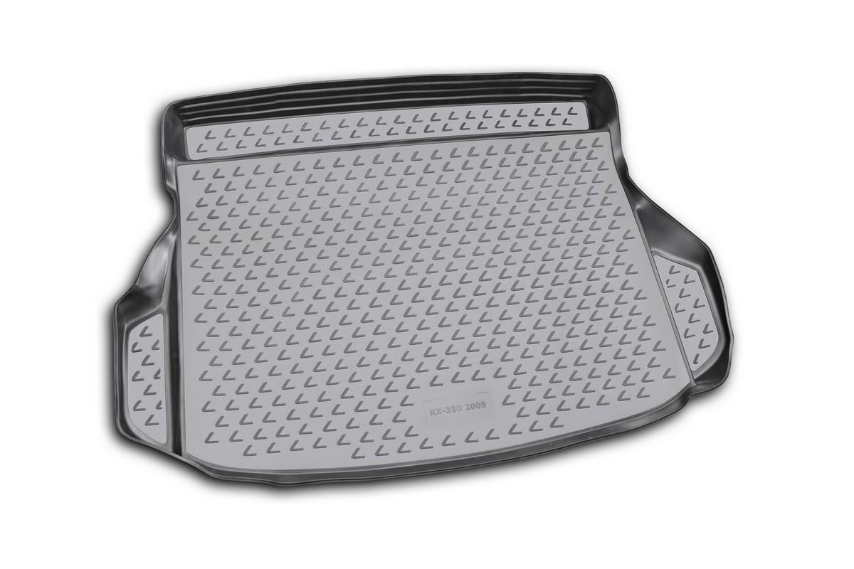 Коврик автомобильный Novline-Autofamily для Lexus RX350 кроссовер 2009-, в багажник. NLC.29.10.B13NLC.29.10.B13Автомобильный коврик Novline-Autofamily, изготовленный из полиуретана, позволит вам без особых усилий содержать в чистоте багажный отсек вашего авто и при этом перевозить в нем абсолютно любые грузы. Этот модельный коврик идеально подойдет по размерам багажнику вашего автомобиля. Такой автомобильный коврик гарантированно защитит багажник от грязи, мусора и пыли, которые постоянно скапливаются в этом отсеке. А кроме того, поддон не пропускает влагу. Все это надолго убережет важную часть кузова от износа. Коврик в багажнике сильно упростит для вас уборку. Согласитесь, гораздо проще достать и почистить один коврик, нежели весь багажный отсек. Тем более, что поддон достаточно просто вынимается и вставляется обратно. Мыть коврик для багажника из полиуретана можно любыми чистящими средствами или просто водой. При этом много времени у вас уборка не отнимет, ведь полиуретан устойчив к загрязнениям.Если вам приходится перевозить в багажнике тяжелые грузы, за сохранность коврика можете не беспокоиться. Он сделан из прочного материала, который не деформируется при механических нагрузках и устойчив даже к экстремальным температурам. А кроме того, коврик для багажника надежно фиксируется и не сдвигается во время поездки, что является дополнительной гарантией сохранности вашего багажа.Коврик имеет форму и размеры, соответствующие модели данного автомобиля.