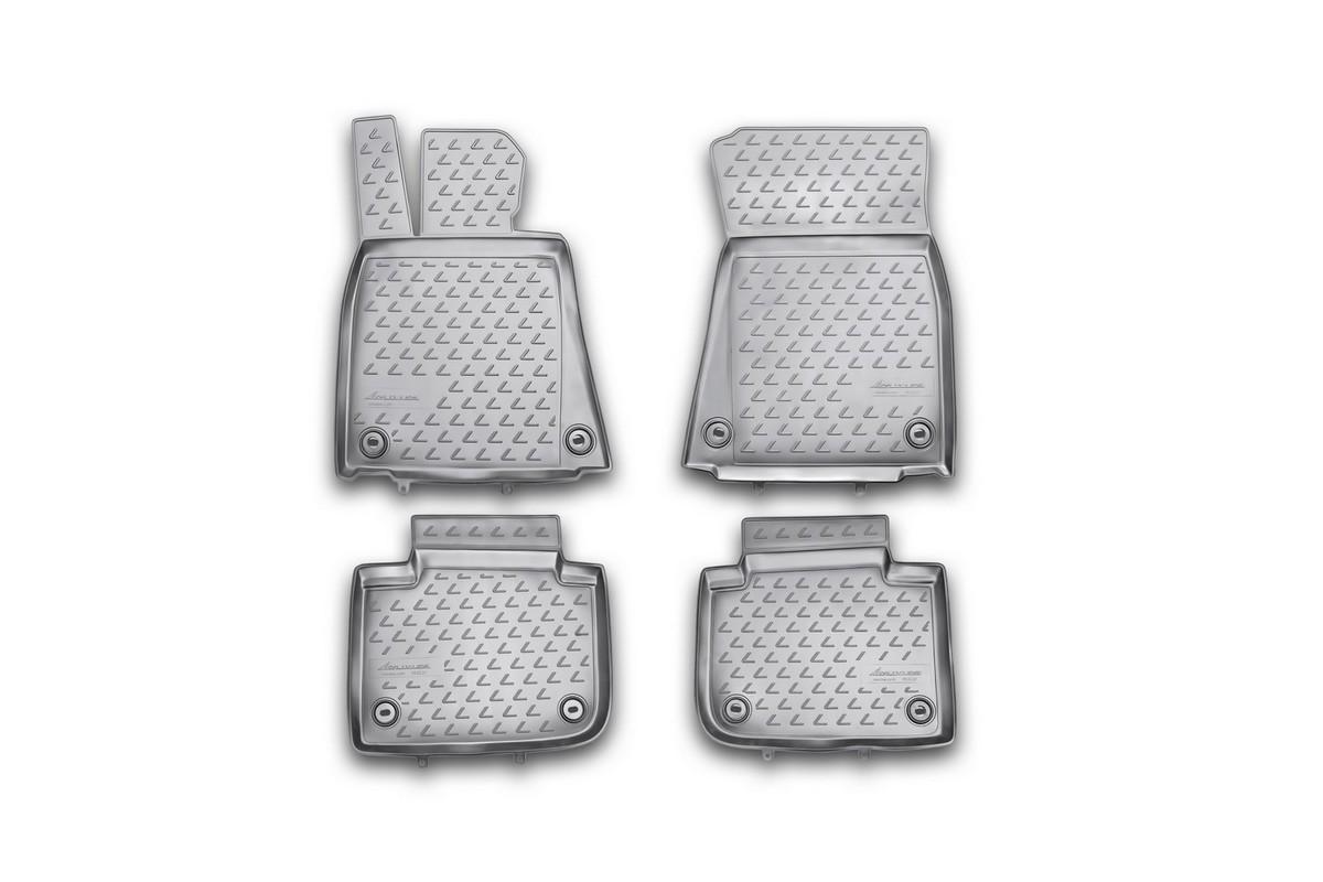 Набор автомобильных ковриков Novline-Autofamily для Lexus GS 250 2012-, в салон, цвет: черный, 4 штNLC.29.21.210khНабор автомобильных ковриков Novline-Autofamily, изготовленный из полиуретана, состоит из 4 ковриков, которые учитывают все особенности каждой модели автомобиля и полностью повторяют контуры пола. Полиуретановые автомобильные коврики для салона произведены из высококачественного материала, который держит форму, прочный и не пачкает обувь. Коврики в салон не только улучшат внешний вид салона вашего автомобиля, но и надежно уберегут его от пыли, грязи и сырости, а значит, защитят кузов от коррозии. Полиуретановые коврики для автомобиля гладкие, приятные и не пропускают влагу. Ковры для автомобилей надежно крепятся на полу и не скользят, что очень важно во время движения. Чистятся коврики очень просто: как при помощи автомобильного пылесоса, так и различными моющими средствами. Набор подходит для Lexus GS 250 c 2012 года выпуска.
