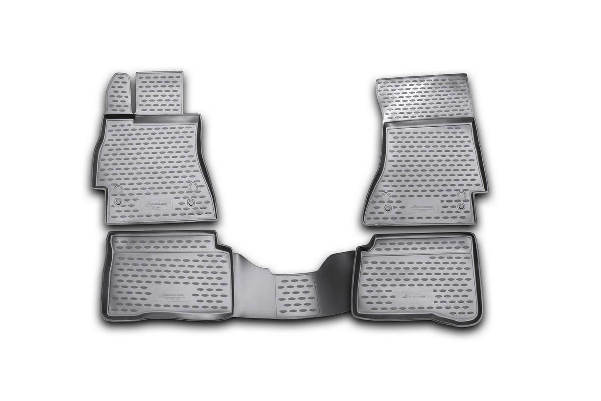 Набор автомобильных ковриков Novline-Autofamily для Mercedes-Benz S-Klasse W221 2005-, в салон, 4 штNLC.34.11.210kНабор автомобильных ковриков Novline-Autofamily, изготовленный из полиуретана, состоит из 4 ковриков, которые учитывают все особенности каждой модели автомобиля и полностью повторяют контуры пола. Полиуретановые автомобильные коврики для салона произведены из высококачественного материала, который держит форму, прочный и не пачкает обувь. Коврики в салон не только улучшат внешний вид салона вашего автомобиля, но и надежно уберегут его от пыли, грязи и сырости, а значит, защитят кузов от коррозии. Полиуретановые коврики для автомобиля гладкие, приятные и не пропускают влагу. Ковры для автомобилей надежно крепятся на полу и не скользят, что очень важно во время движения. Чистятся коврики очень просто: как при помощи автомобильного пылесоса, так и различными моющими средствами. Набор подходит для Mercedes-Benz S-Klasse W221 с 2005 года выпуска.