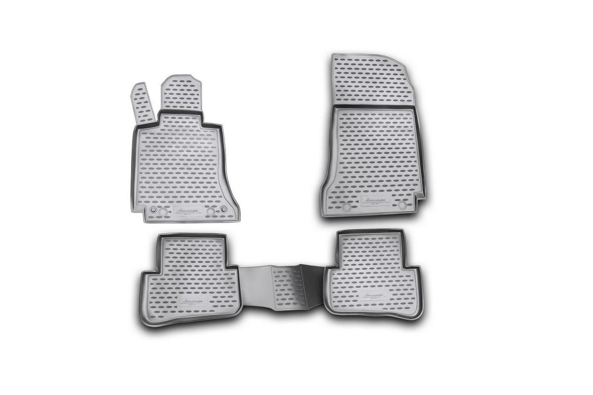 Набор автомобильных ковриков Novline-Autofamily для Mercedes-Benz C-Klasse W204 2007-2014, в салон, 4 штNLC.34.27.210kНабор автомобильных ковриков Novline-Autofamily, изготовленный из полиуретана, состоит из 4 ковриков, которые учитывают все особенности каждой модели автомобиля и полностью повторяют контуры пола. Полиуретановые автомобильные коврики для салона произведены из высококачественного материала, который держит форму, прочный и не пачкает обувь. Коврики в салон не только улучшат внешний вид салона вашего автомобиля, но и надежно уберегут его от пыли, грязи и сырости, а значит, защитят кузов от коррозии. Полиуретановые коврики для автомобиля гладкие, приятные и не пропускают влагу. Ковры для автомобилей надежно крепятся на полу и не скользят, что очень важно во время движения. Чистятся коврики очень просто: как при помощи автомобильного пылесоса, так и различными моющими средствами. Набор подходит для Mercedes-Benz C-Klasse W204 2007-2014 годов выпуска.