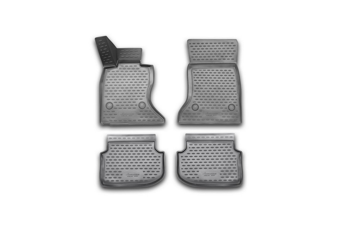 Набор автомобильных 3D-ковриков Novline-Autofamily для BMW 5 (F10), 2010-2013, в салон, 4 штNLC.3D.05.32.210kНабор Novline-Autofamily состоит из 4 ковриков, изготовленных из полиуретана.Основная функция ковров - защита салона автомобиля от загрязнения и влаги. Это достигается за счет высоких бортов, перемычки на тоннель заднего ряда сидений, элементов формы и текстуры, свойств материала, а также запатентованной технологией 3D-перемычки в зоне отдыха ноги водителя, что обеспечивает дополнительную защиту, сохраняя салон автомобиля в первозданном виде.Материал, из которого сделаны коврики, обладает антискользящими свойствами. Для фиксации ковров в салоне автомобиля в комплекте с ними используются специальные крепежи. Форма передней части водительского ковра, уходящая под педаль акселератора, исключает нештатное заедание педалей.Набор подходит для BMW 5 (F10)2010-2013 года выпуска.
