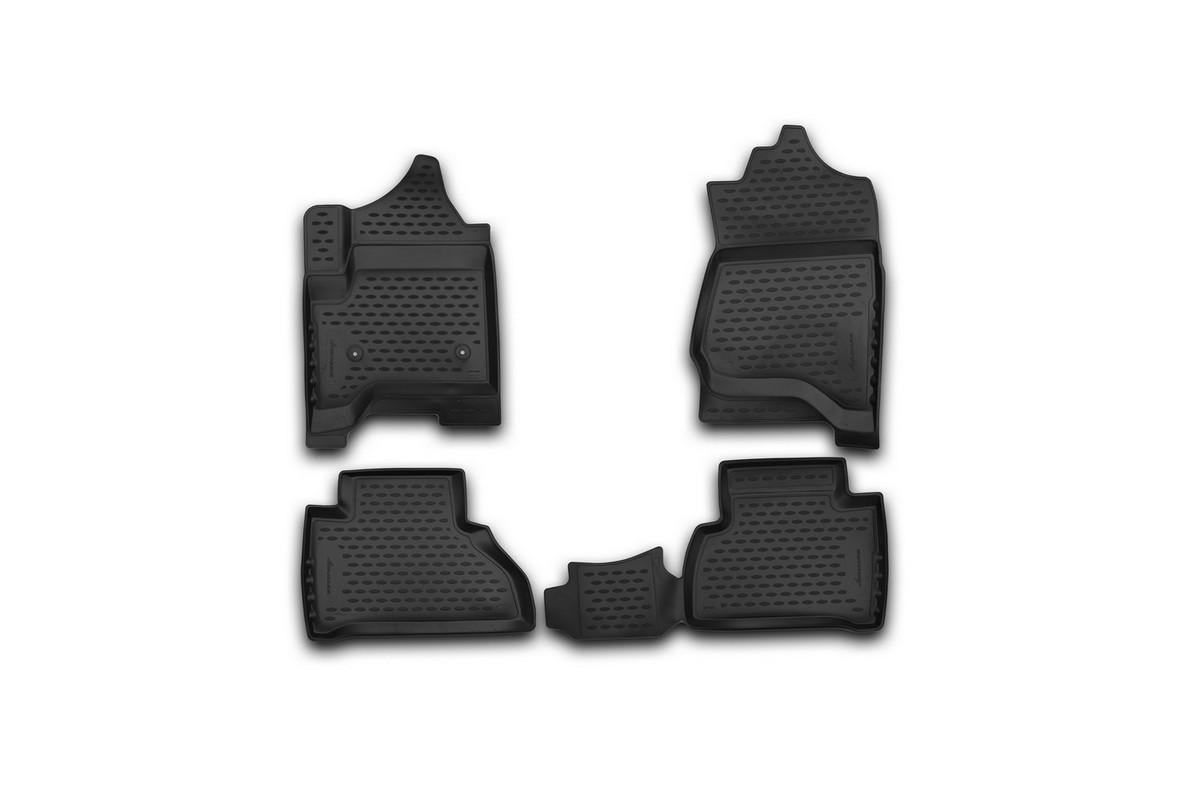 Набор автомобильных 3D-ковриков Novline-Autofamily для Cadillac Escalade, 2015->, в салон, 4 штNLC.3D.07.10.210kНабор Novline-Autofamily состоит из 4 ковриков, изготовленных из полиуретана.Основная функция ковров - защита салона автомобиля от загрязнения и влаги. Это достигается за счет высоких бортов, перемычки на тоннель заднего ряда сидений, элементов формы и текстуры, свойств материала, а также запатентованной технологией 3D-перемычки в зоне отдыха ноги водителя, что обеспечивает дополнительную защиту, сохраняя салон автомобиля в первозданном виде.Материал, из которого сделаны коврики, обладает антискользящими свойствами. Для фиксации ковров в салоне автомобиля в комплекте с ними используются специальные крепежи. Форма передней части водительского ковра, уходящая под педаль акселератора, исключает нештатное заедание педалей.Набор подходит для Cadillac Escalade с 2015 года выпуска.
