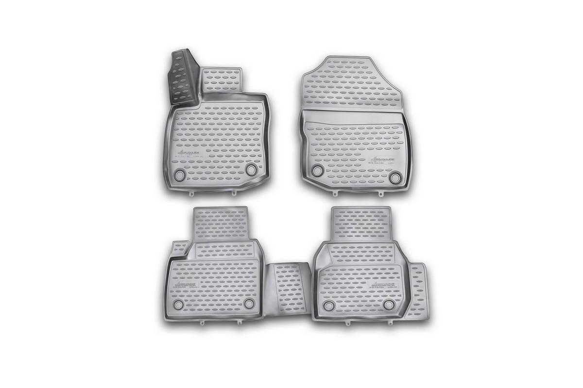 Набор автомобильных 3D-ковриков Novline-Autofamily для Honda Civic 5D, 2012->, хэтчбек, в салон, 4 штNLC.3D.18.26.210khНабор Novline-Autofamily состоит из 4 ковриков, изготовленных из полиуретана.Основная функция ковров - защита салона автомобиля от загрязнения и влаги. Это достигается за счет высоких бортов, перемычки на тоннель заднего ряда сидений, элементов формы и текстуры, свойств материала, а также запатентованной технологией 3D-перемычки в зоне отдыха ноги водителя, что обеспечивает дополнительную защиту, сохраняя салон автомобиля в первозданном виде.Материал, из которого сделаны коврики, обладает антискользящими свойствами. Для фиксации ковров в салоне автомобиля в комплекте с ними используются специальные крепежи. Форма передней части водительского ковра, уходящая под педаль акселератора, исключает нештатное заедание педалей.Набор подходит для Honda Civic хэтчбек с 2012 года выпуска.