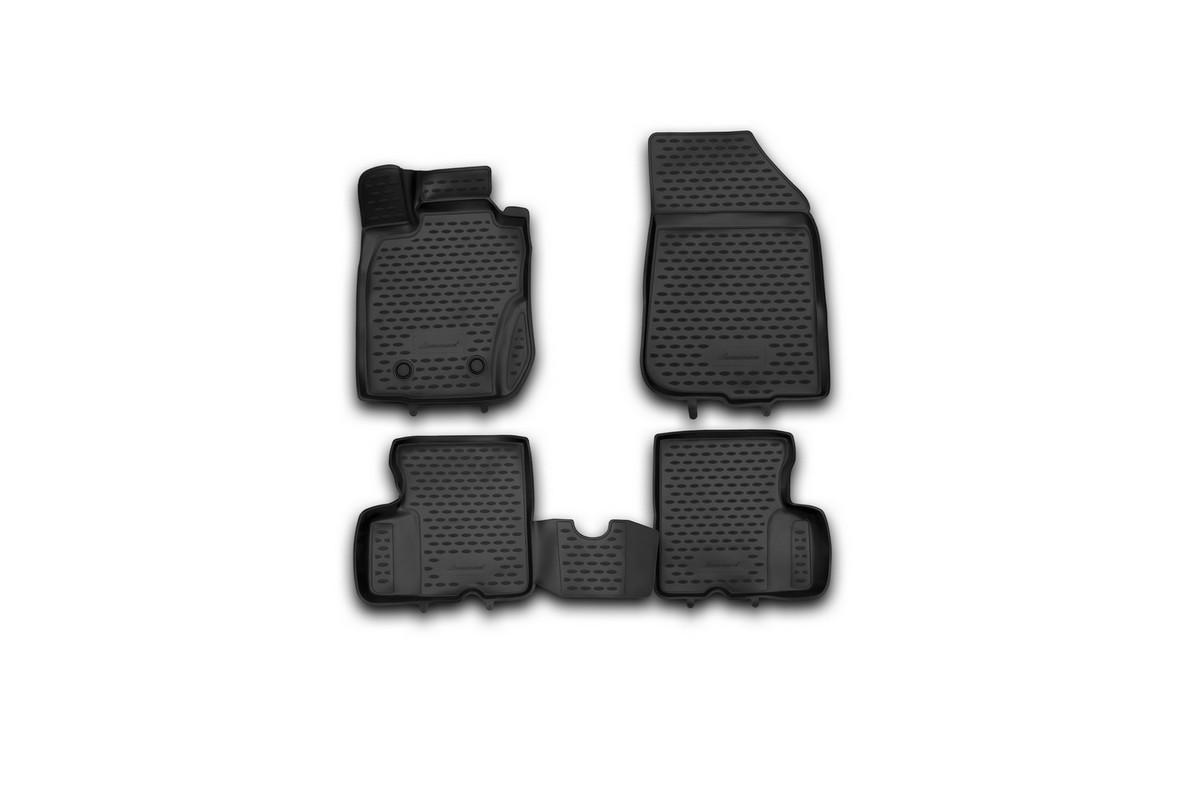 Набор автомобильных 3D-ковриков Novline-Autofamily для Renault Duster 4WD, 2011-2015, в салон, 4 штNLC.3D.41.28.210khНабор Novline-Autofamily состоит из 4 ковриков, изготовленных из полиуретана.Основная функция ковров - защита салона автомобиля от загрязнения и влаги. Это достигается за счет высоких бортов, перемычки на тоннель заднего ряда сидений, элементов формы и текстуры, свойств материала, а также запатентованной технологией 3D-перемычки в зоне отдыха ноги водителя, что обеспечивает дополнительную защиту, сохраняя салон автомобиля в первозданном виде.Материал, из которого сделаны коврики, обладает антискользящими свойствами. Для фиксации ковров в салоне автомобиля в комплекте с ними используются специальные крепежи. Форма передней части водительского ковра, уходящая под педаль акселератора, исключает нештатное заедание педалей.Набор подходит для Renault Duster 4WD 2011-2015 года выпуска.