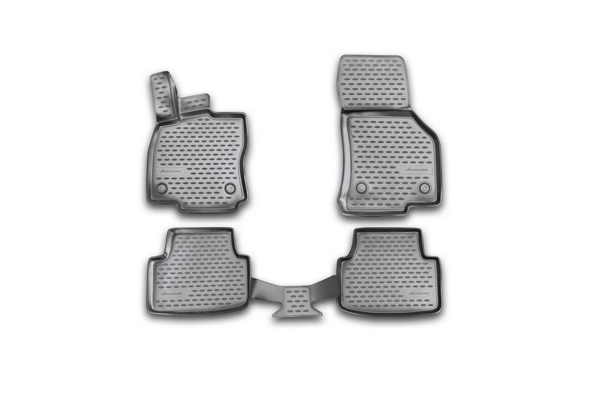 Набор автомобильных 3D-ковриков Novline-Autofamily для Skoda Octavia, 2013->, в салон, 4 штNLC.3D.45.16.210kНабор Novline-Autofamily состоит из 4 ковриков, изготовленных из полиуретана.Основная функция ковров - защита салона автомобиля от загрязнения и влаги. Это достигается за счет высоких бортов, перемычки на тоннель заднего ряда сидений, элементов формы и текстуры, свойств материала, а также запатентованной технологией 3D-перемычки в зоне отдыха ноги водителя, что обеспечивает дополнительную защиту, сохраняя салон автомобиля в первозданном виде.Материал, из которого сделаны коврики, обладает антискользящими свойствами. Для фиксации ковров в салоне автомобиля в комплекте с ними используются специальные крепежи. Форма передней части водительского ковра, уходящая под педаль акселератора, исключает нештатное заедание педалей.Набор подходит для Skoda Octavia с 2013 года выпуска.