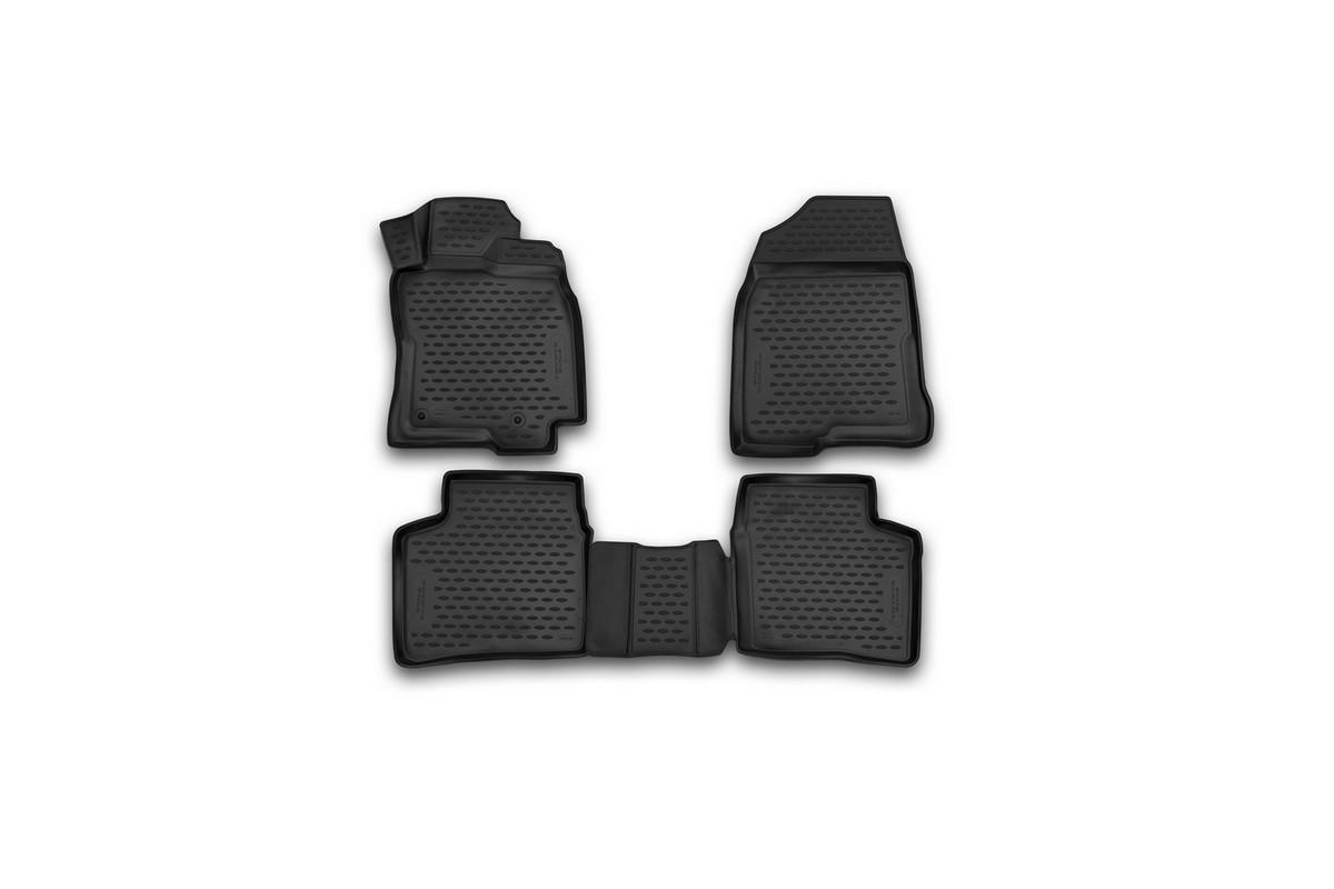 Набор автомобильных 3D-ковриков Novline-Autofamily для Toyota Prius, 2003-2009, в салон, 4 штNLC.3D.48.101.210kНабор Novline-Autofamily состоит из 4 ковриков, изготовленных из полиуретана.Основная функция ковров - защита салона автомобиля от загрязнения и влаги. Это достигается за счет высоких бортов, перемычки на тоннель заднего ряда сидений, элементов формы и текстуры, свойств материала, а также запатентованной технологией 3D-перемычки в зоне отдыха ноги водителя, что обеспечивает дополнительную защиту, сохраняя салон автомобиля в первозданном виде.Материал, из которого сделаны коврики, обладает антискользящими свойствами. Для фиксации ковров в салоне автомобиля в комплекте с ними используются специальные крепежи. Форма передней части водительского ковра, уходящая под педаль акселератора, исключает нештатное заедание педалей.Набор подходит для праворульной Toyota Prius 2003-2009 года выпуска.